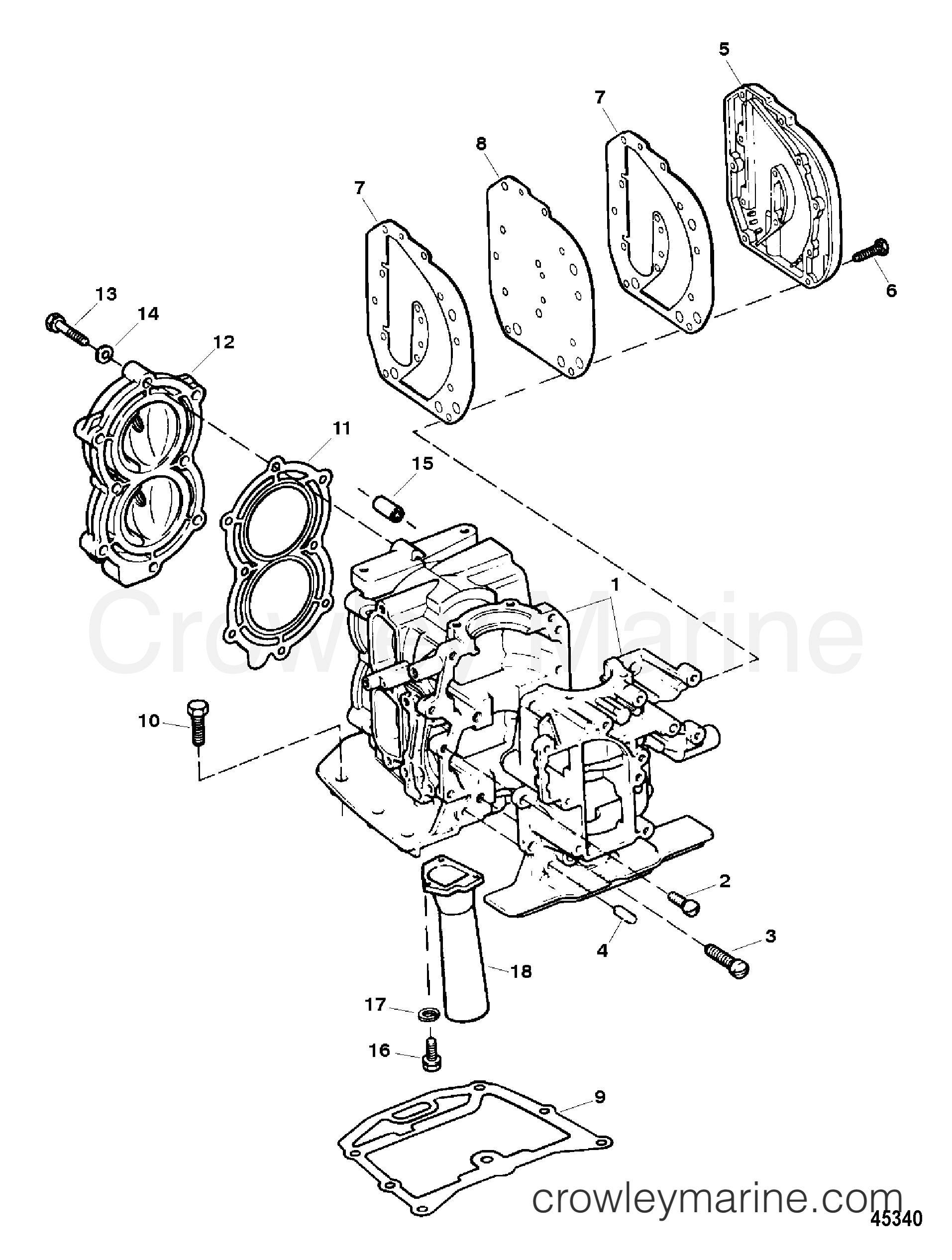 cylinder block assembly 1996 force outboard 9 9 h009201sd mh Boat Motor Diagram 1996 force outboard 9 9 h009201sd mh cylinder block assembly section