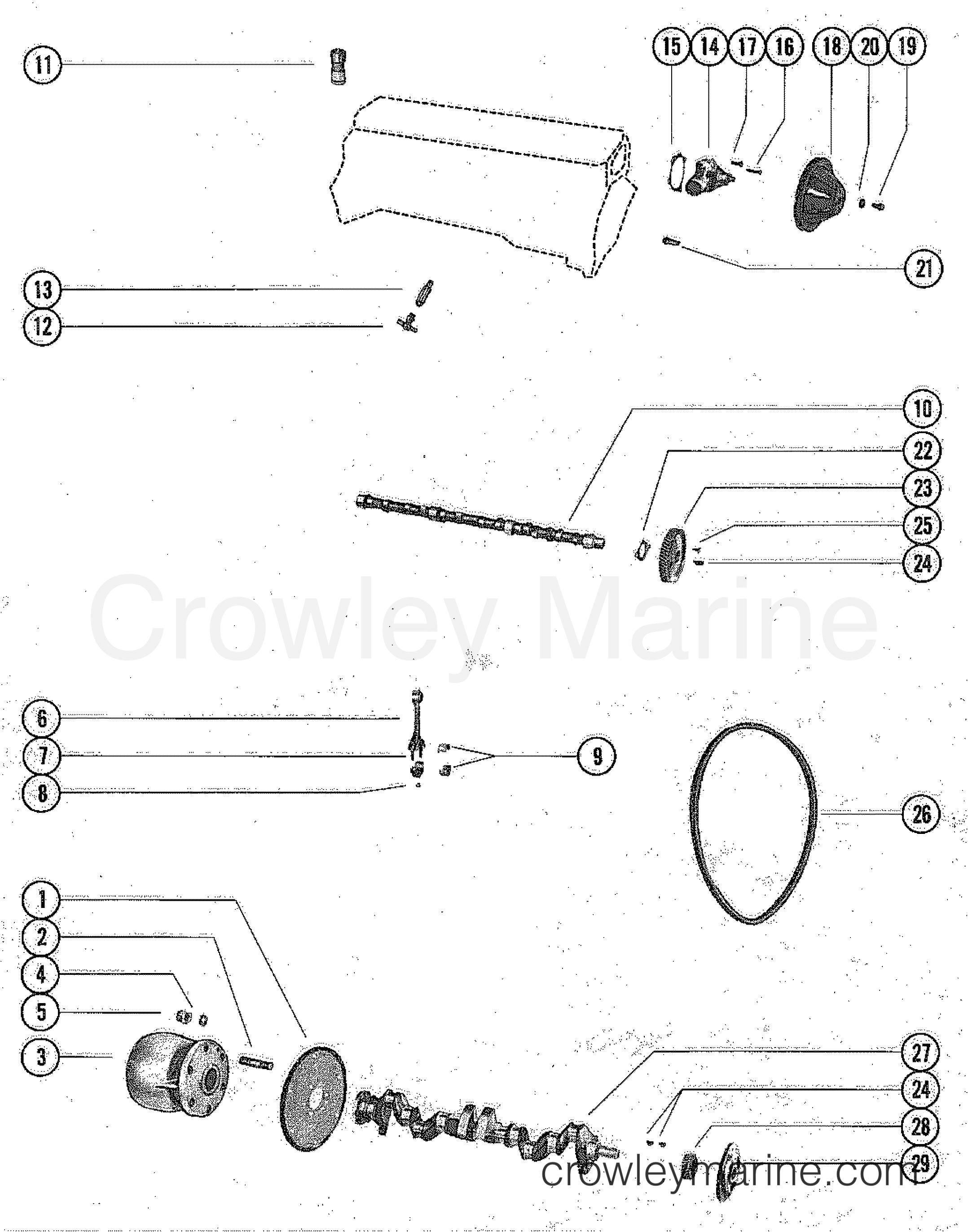 CAMSHAFT  CRANKSHAFT AND WATER PUMP  1978    Mercruiser       165    2165208   Crowley Marine