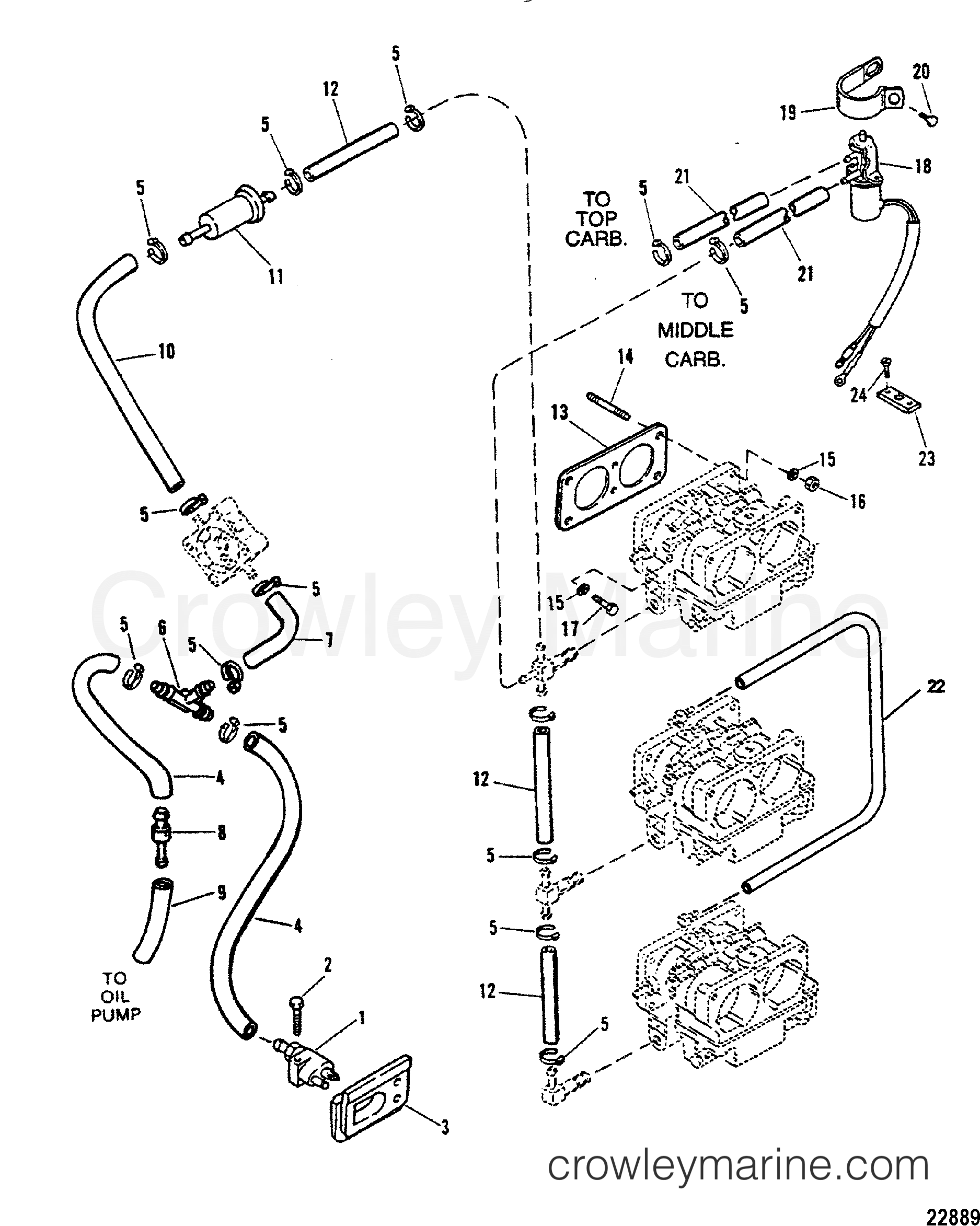 Fuel Lines Use With Wmh 30 31 32 33 34 Carburetors