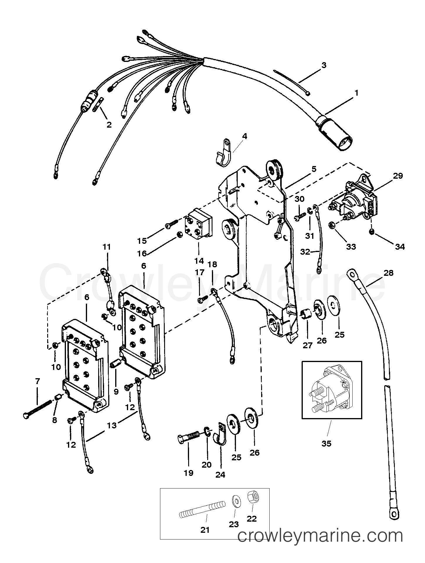 wiring harness  starter solenoid  u0026 rectifier