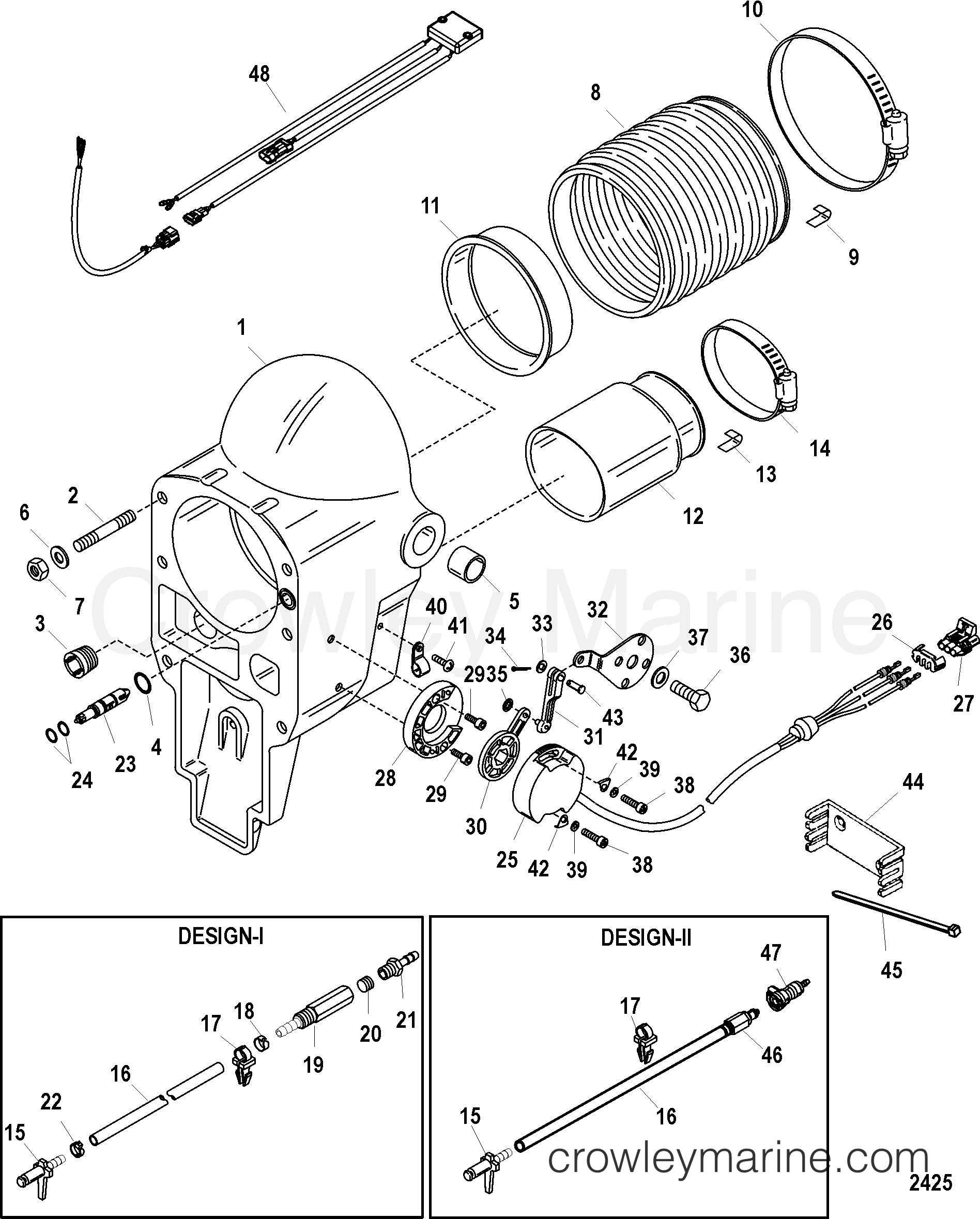 boat bellows diagram