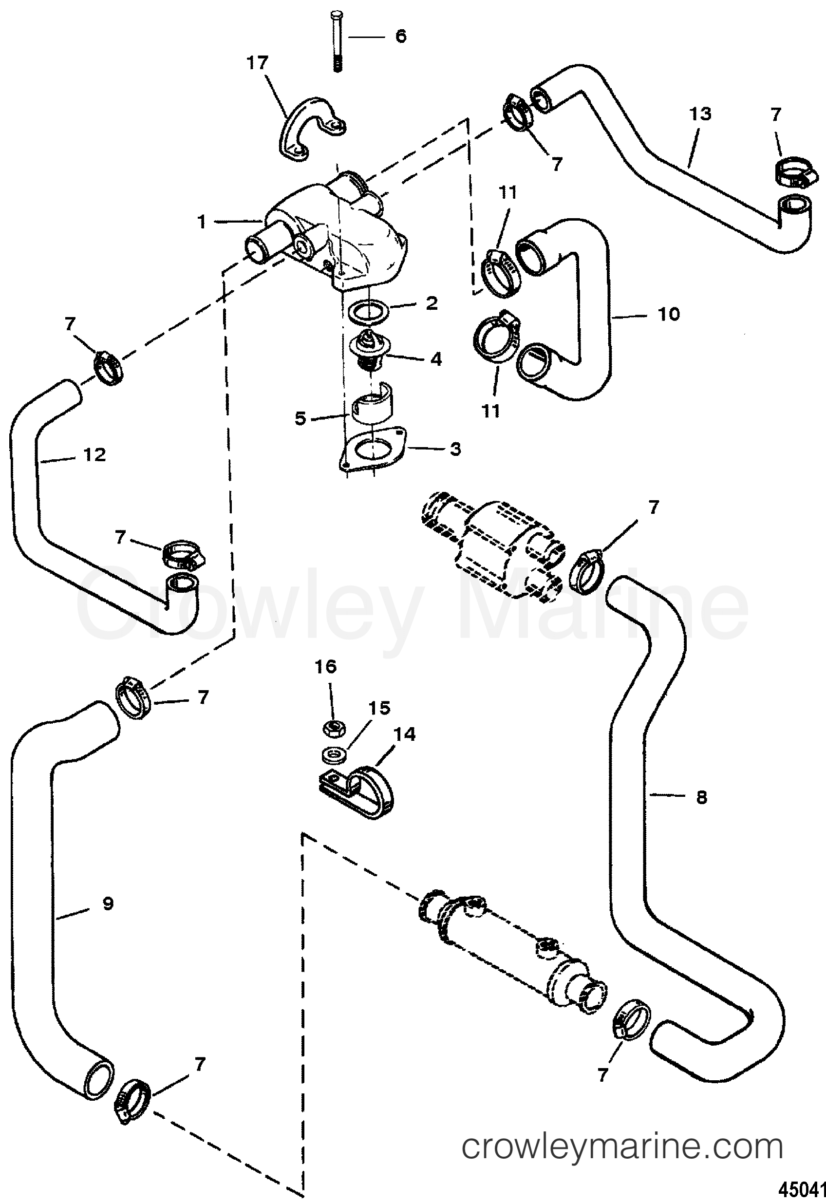 Mercury Engine Cooling Diagram Simple Wiring Jeep Thermostat Housingcast Iron Standard 1994