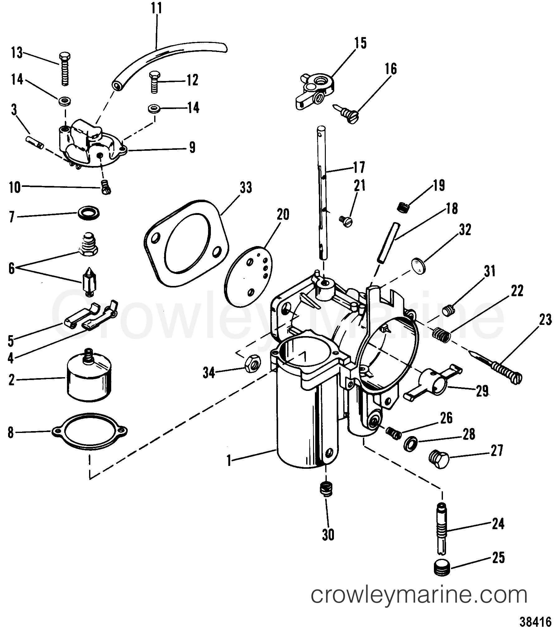 XFtzHcHf carburetor 1980 mariner outboard 115 [elpt] 7115620 crowley marine mariner 115 outboard wiring diagram at alyssarenee.co