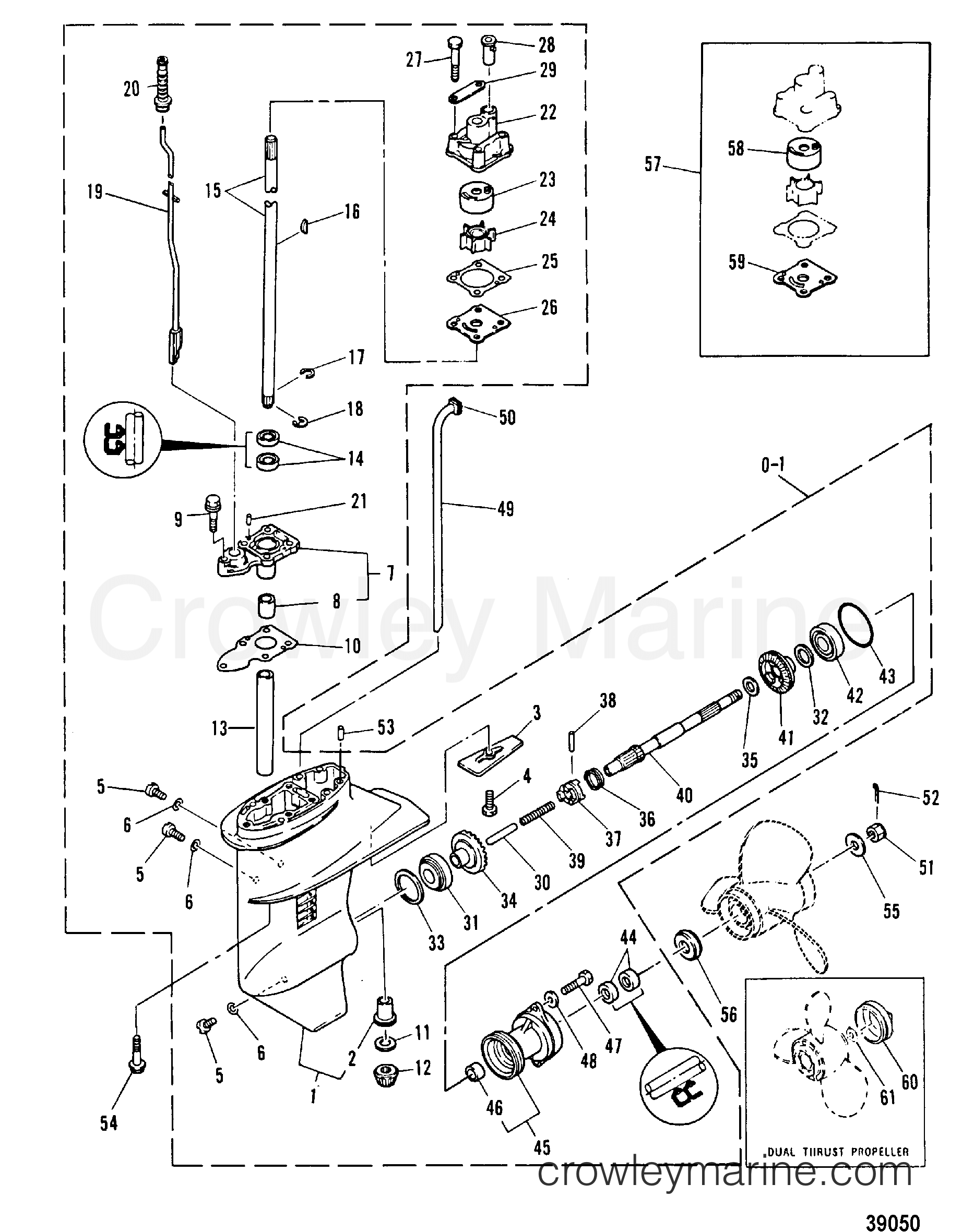 1978 Mariner Outboard 8 [ML] - 7008228 - GEARHOUSING ASSEMBLY section