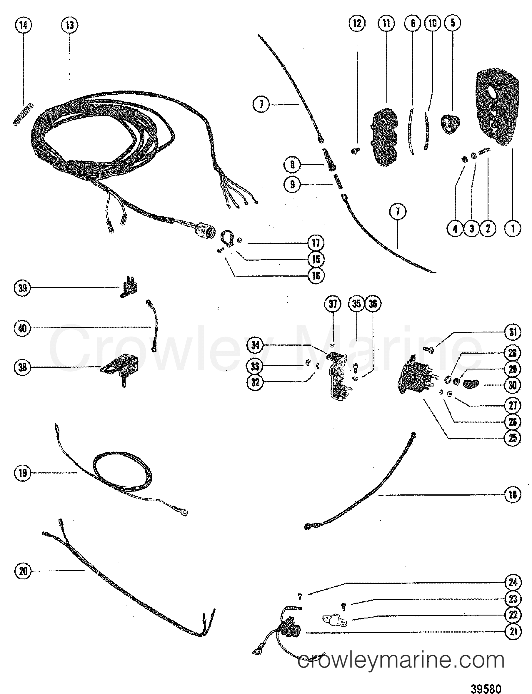 Mercruiser 120 Controls Parts Diagram Reinvent Your Wiring 1978 Control Panel Assembly 2120208 Crowley Marine Rh Crowleymarine Com Outdrive Specs