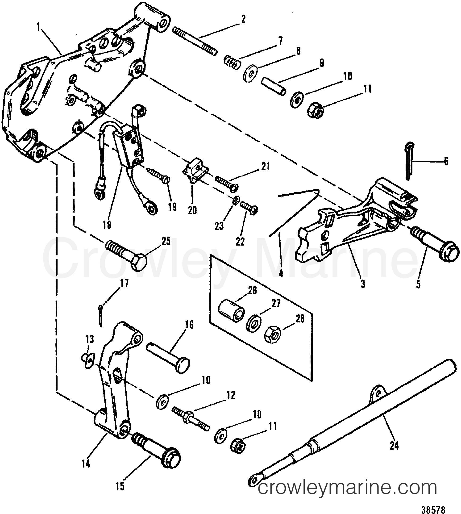shift bracket alpha engines