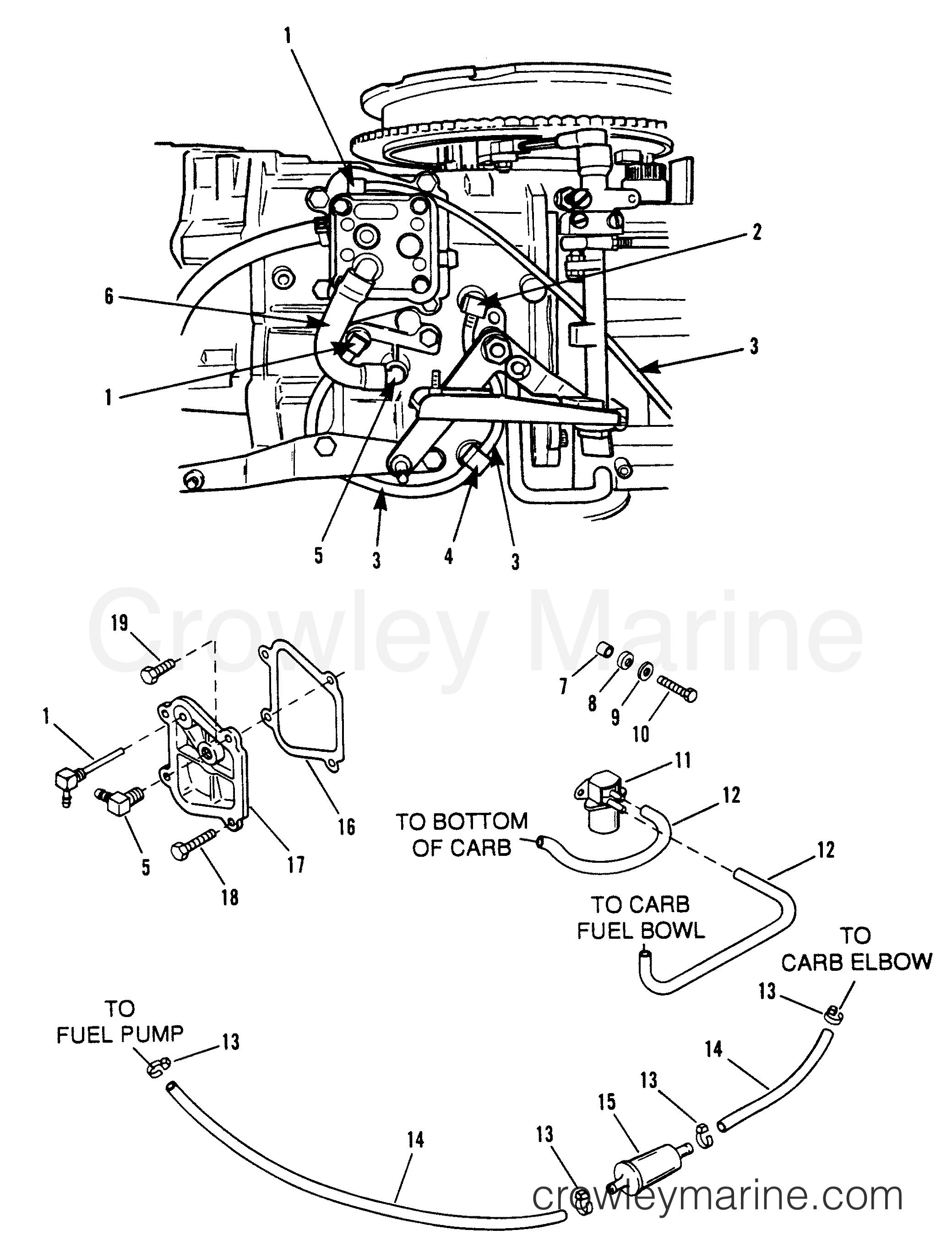recirculation and prime system  92c  e065372 e093699