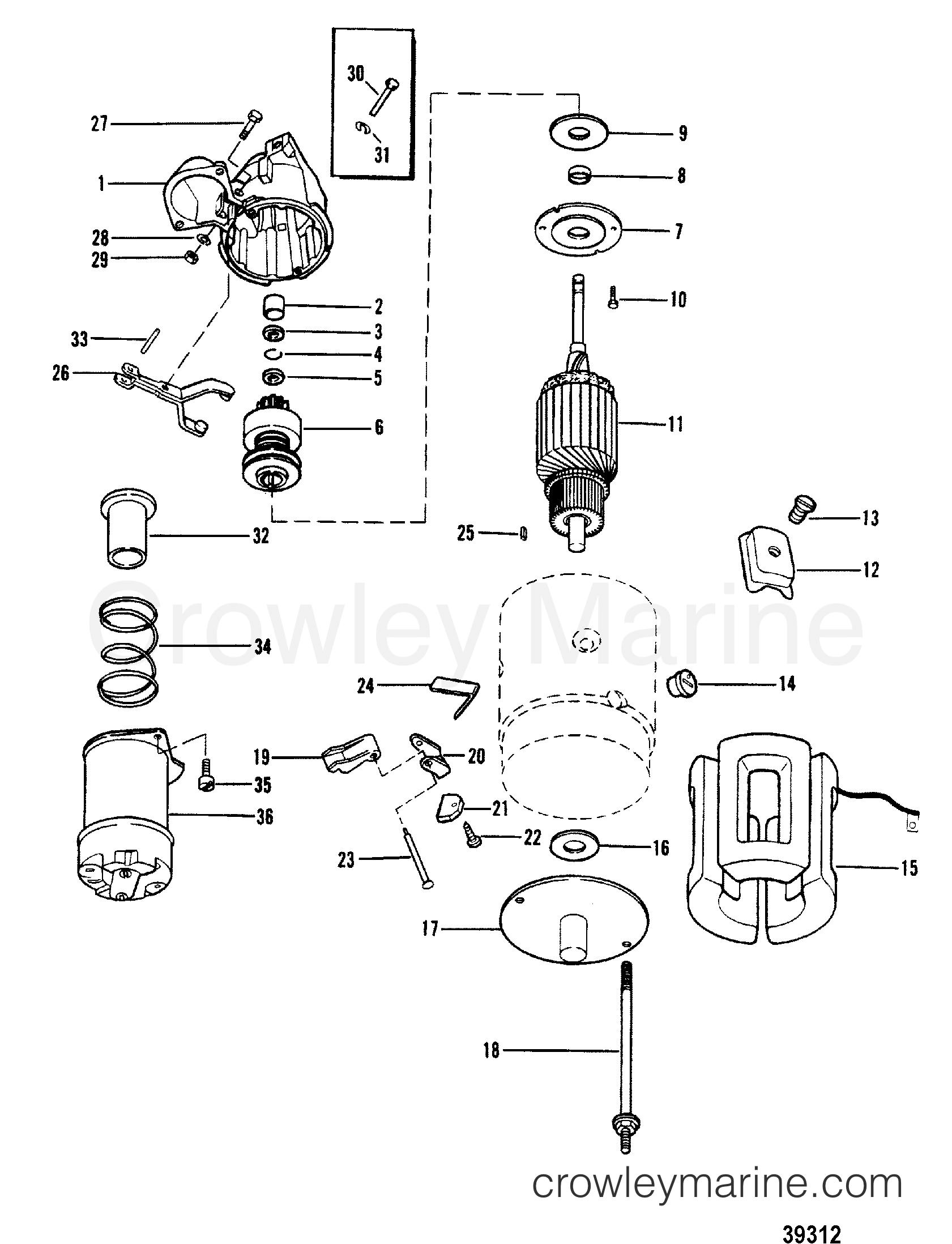 Starter And Flywheel Diagram Download Wiring Diagrams 1954 Chevy Motor Use With 12 3 4 1982 Mercruiser Mc1 Rh Crowleymarine Com Gm Solenoid