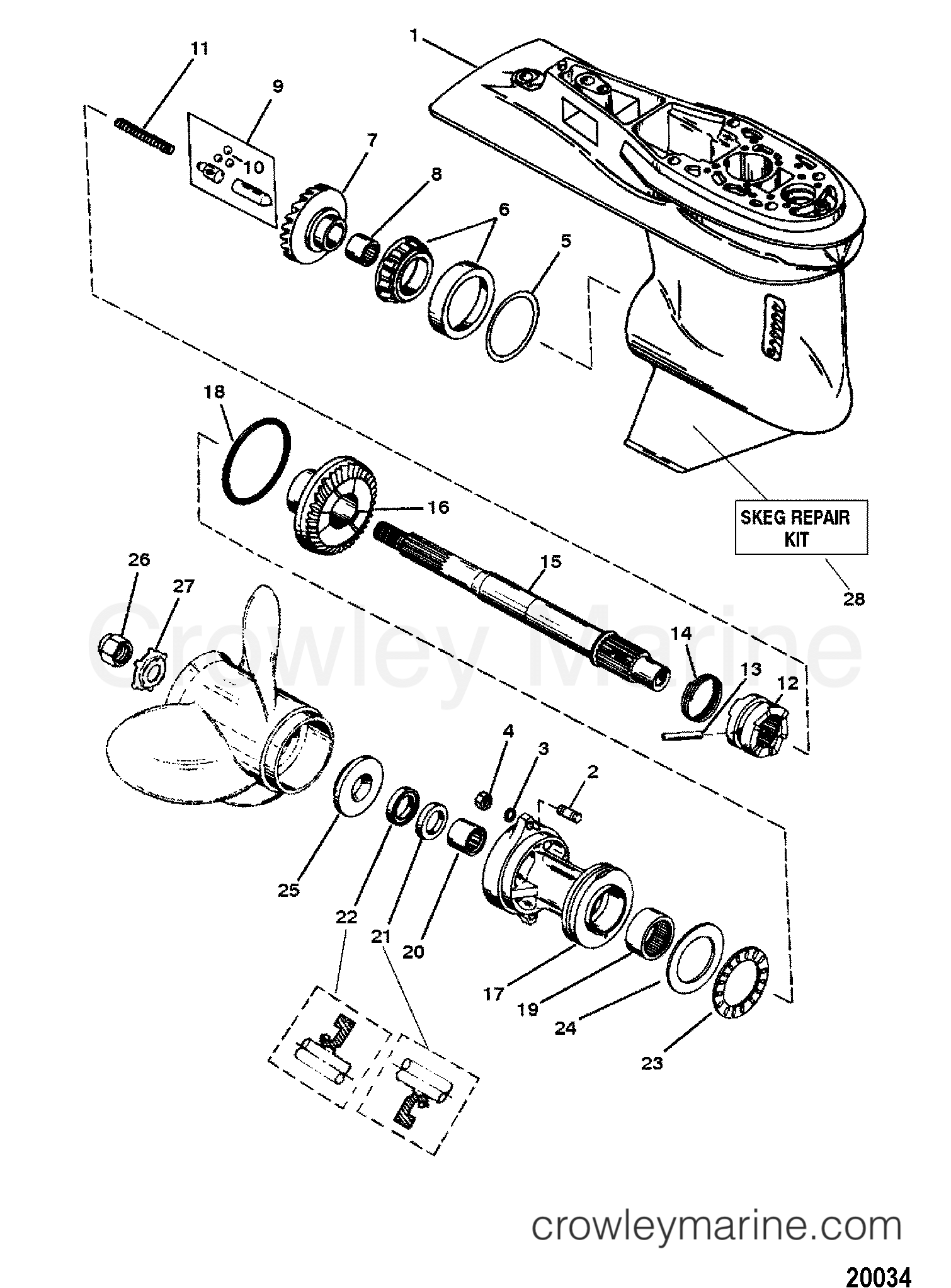 1996 Force Outboard Motor Diagram Box Wiring Evinrude Engine Gear Housing Assemblypropshaft 3 Jaw Reverse Clutch Parts Diagrams
