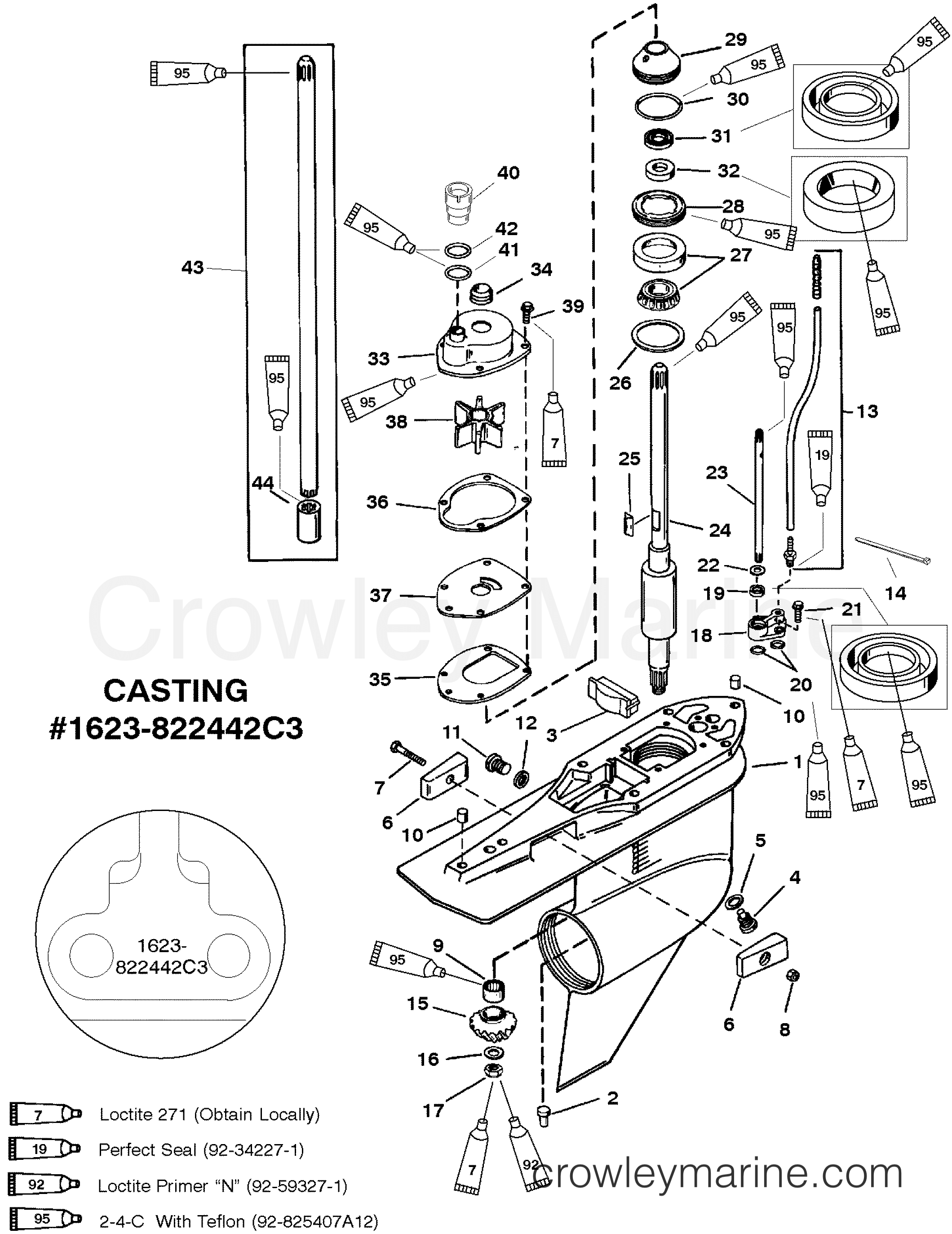 gear hsg drive shaft counter rotation g438000  u0026 up