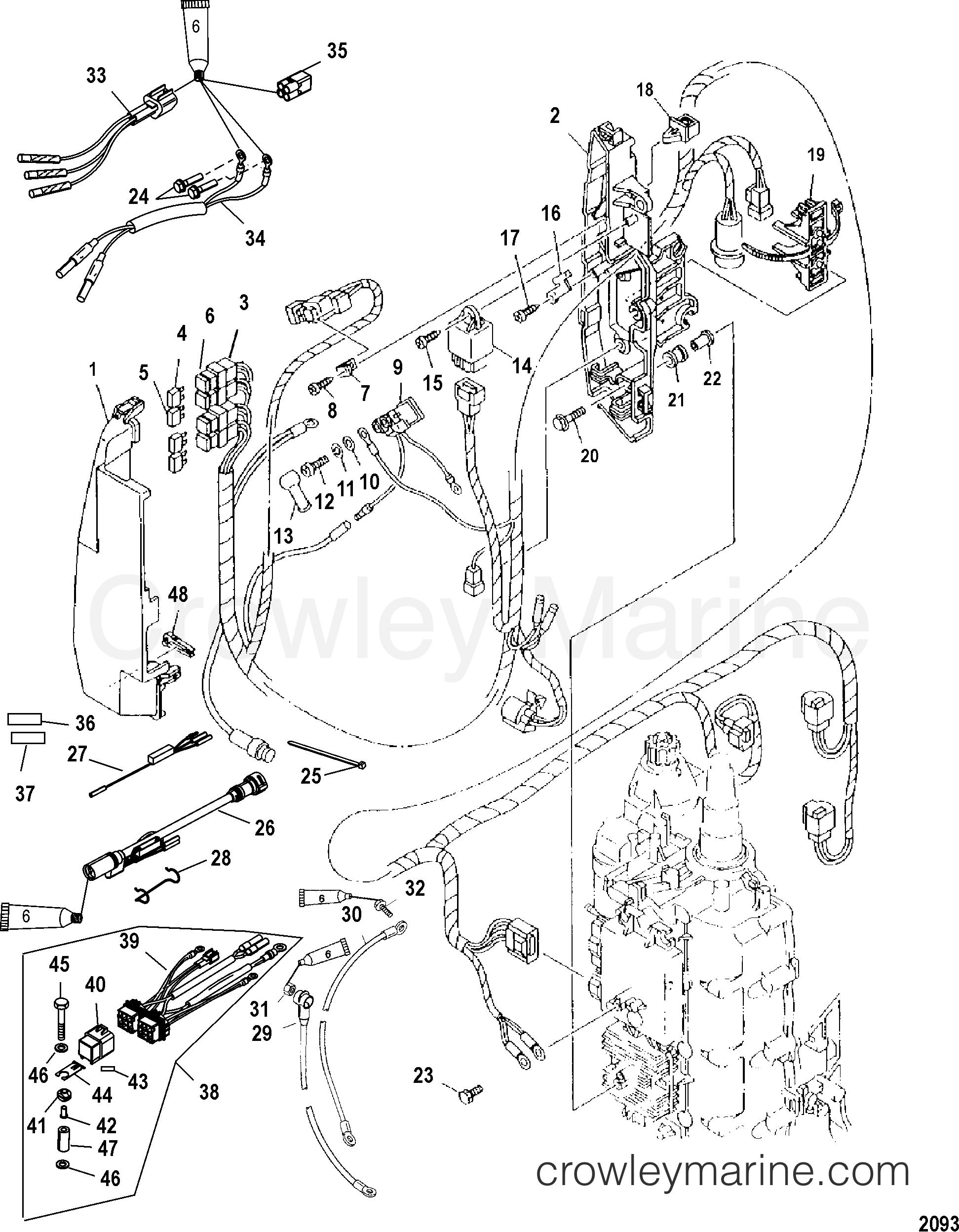 Mariner Outboard Wiring Diagram 2004 Reinvent Your Electrical Components 115efi Elpt 4 Rh Crowleymarine Com Mercury Force