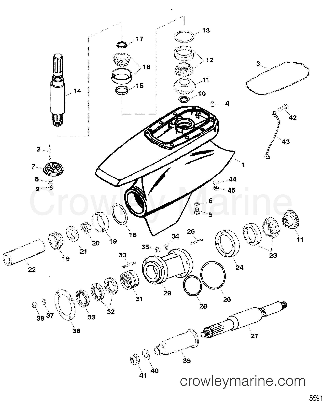 Serial Range Mercruiser Race Sterndrive SSM SIX - ALL & Up [USA] - GEAR HOUSING ASSEMBLY(SSM SEVEN - DRIVESHAFT/PROPSHAFT) section