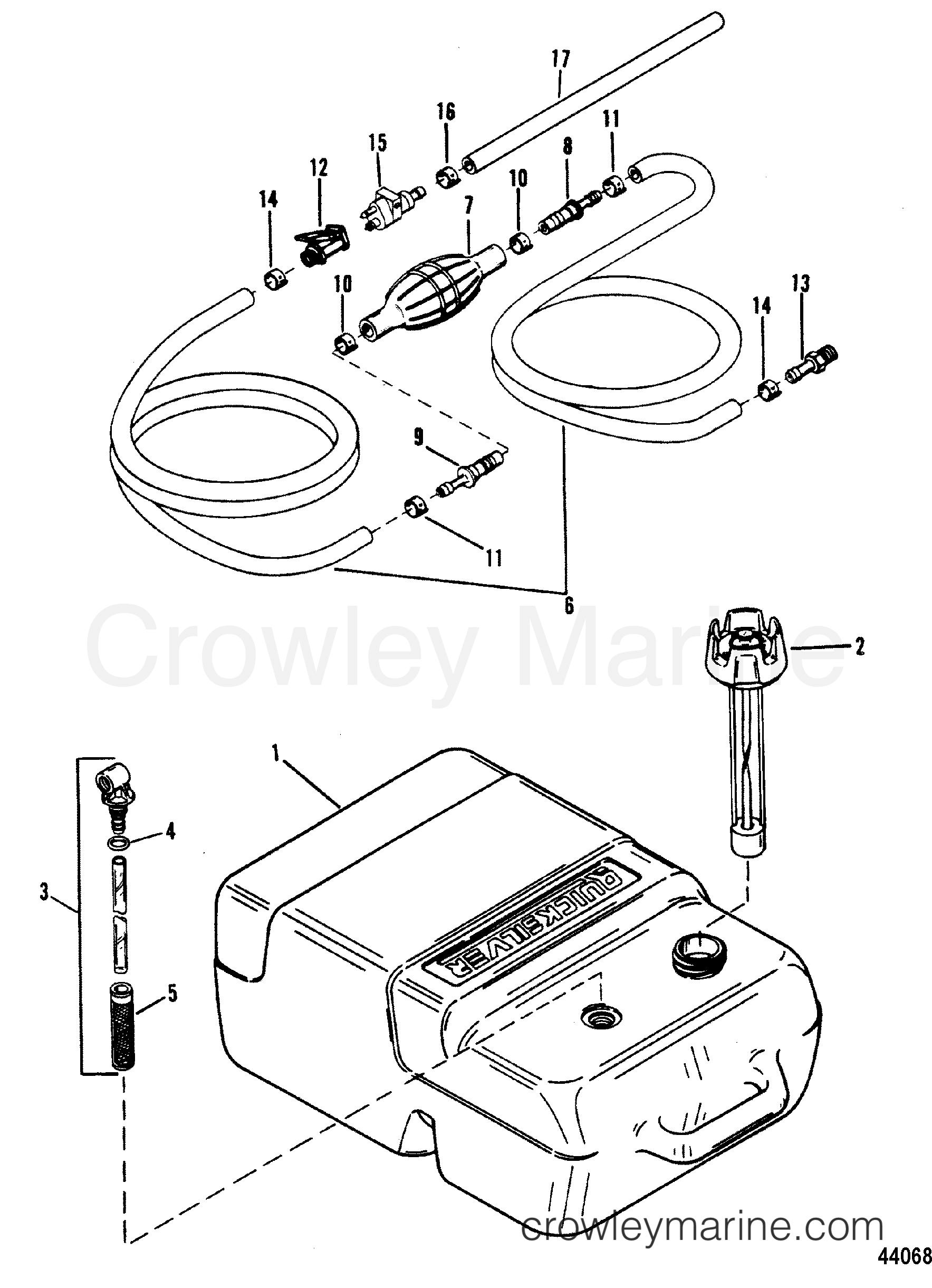 fuel tank and line plastic - 6 6 gallon