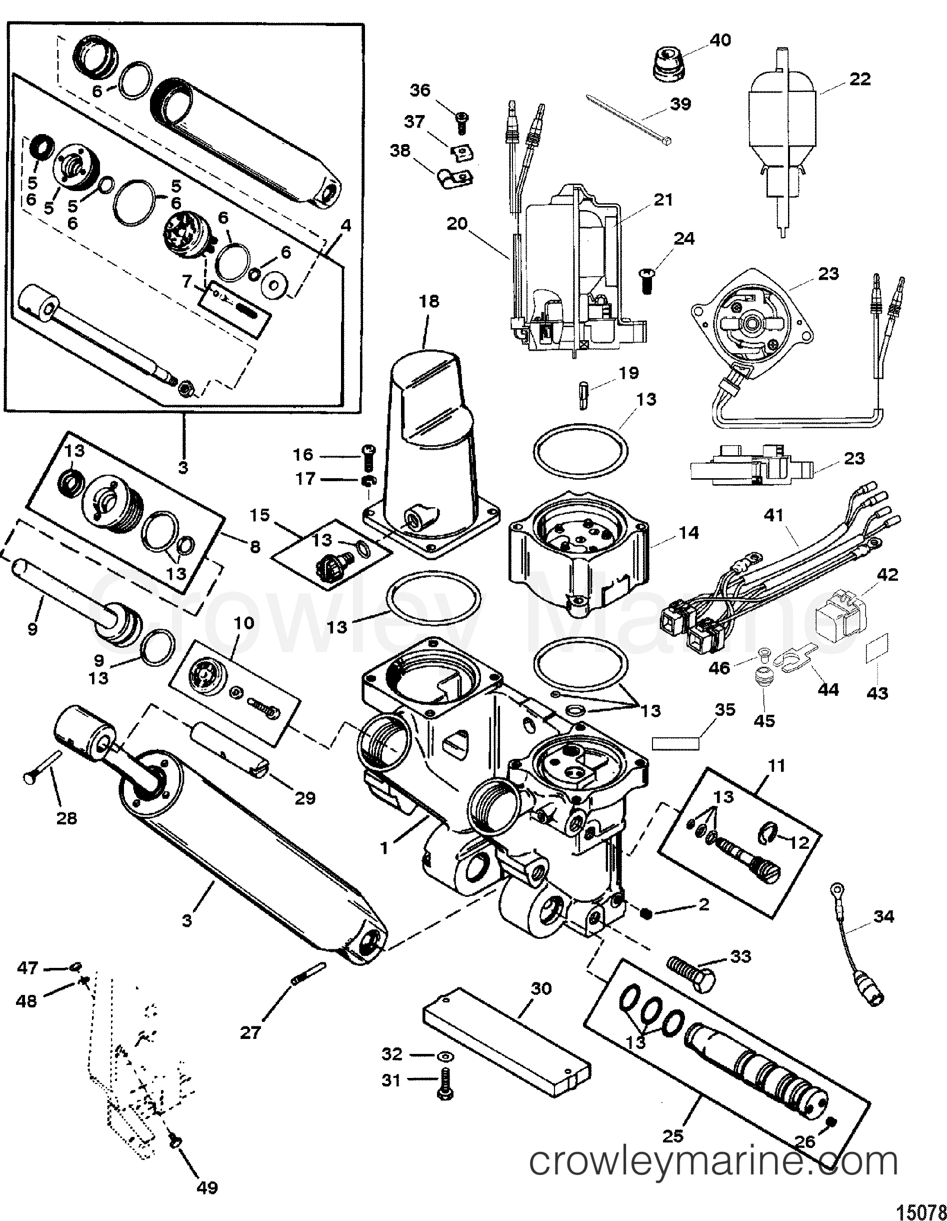 POWER TRIM AND TILT KIT(826729A4) - Various Years Rigging ...