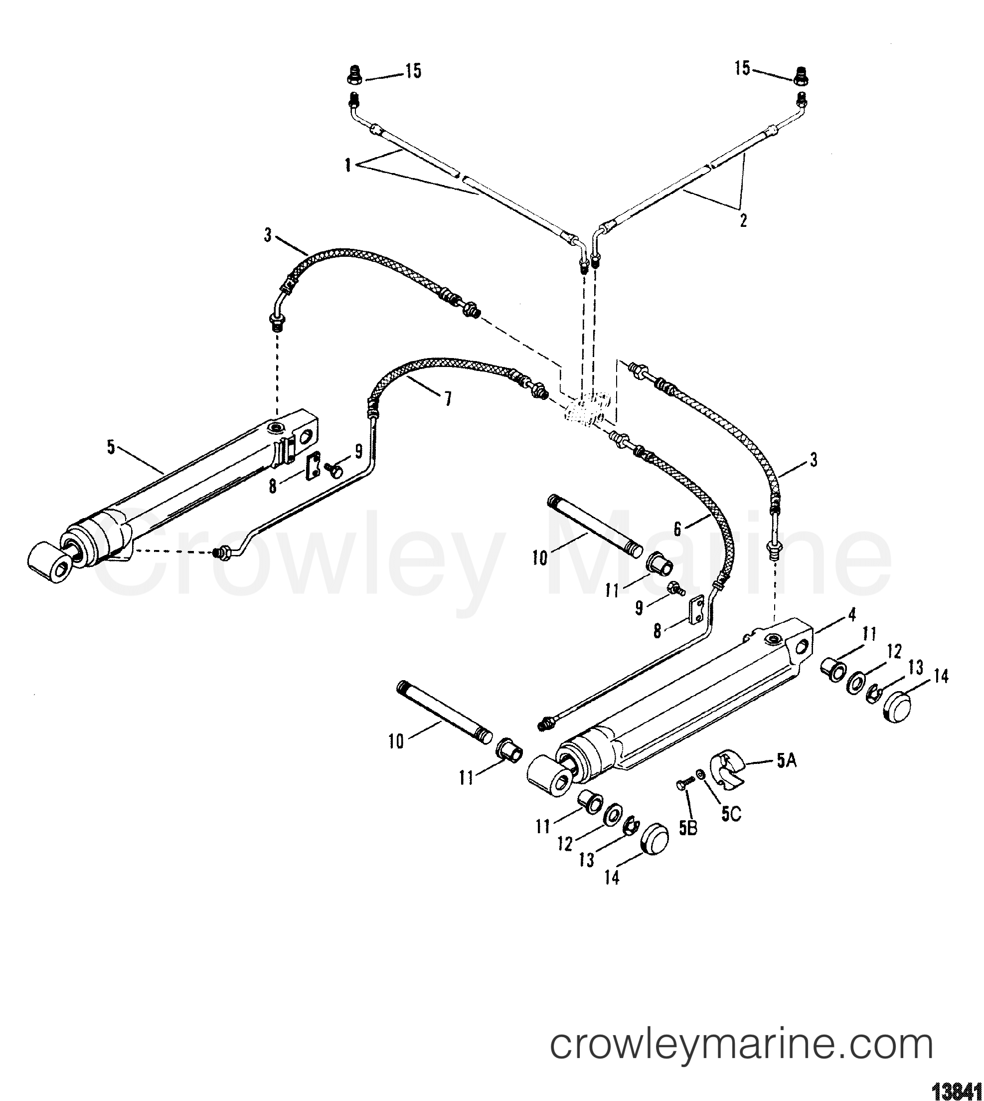 trim cylinders and hydraulic hoses