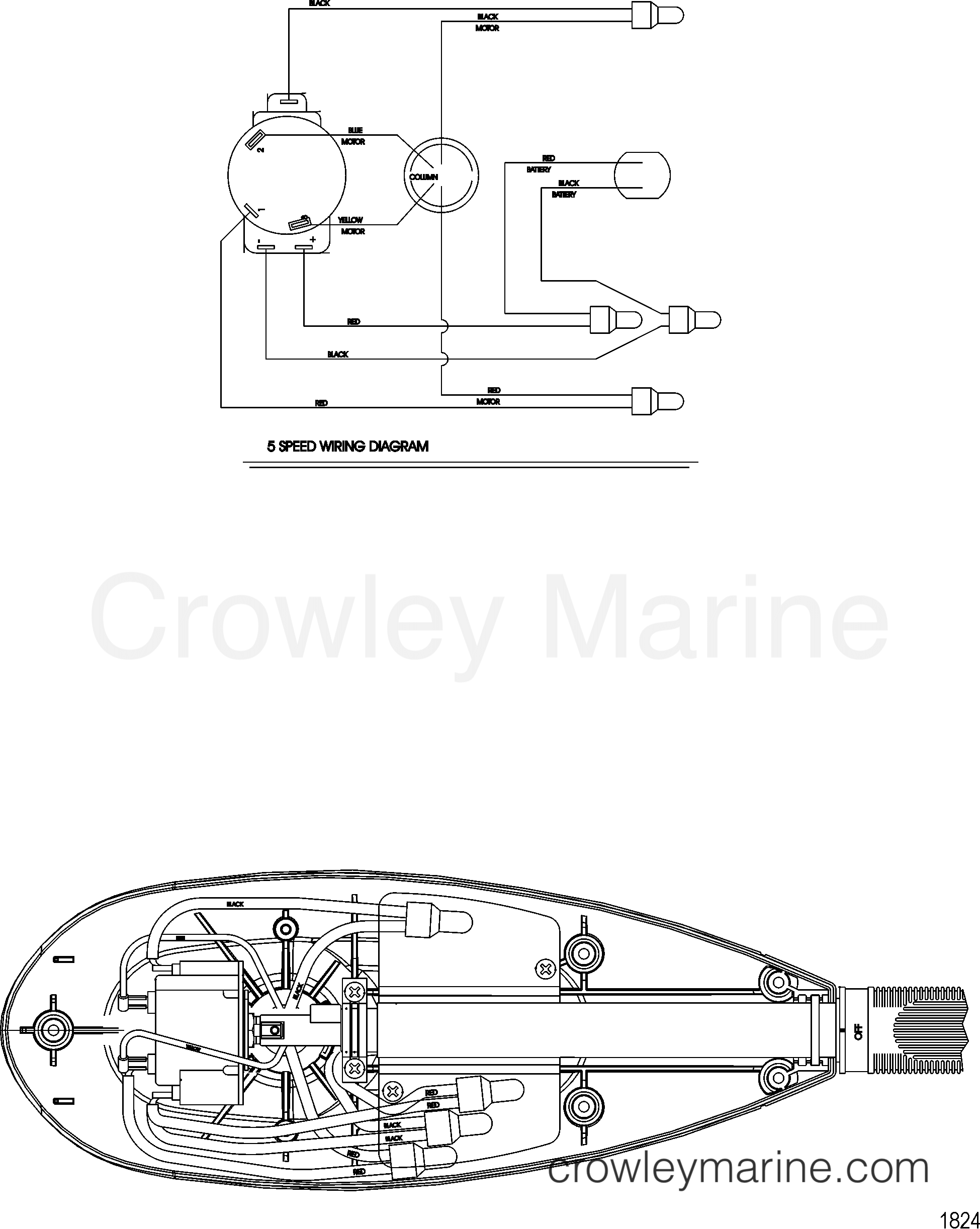 2006 MotorGuide 24V [MOTORGUIDE] - 921310264 WIRE DIAGRAM(MODEL FW54HB) (WITHOUT QUICK CONNECT) section