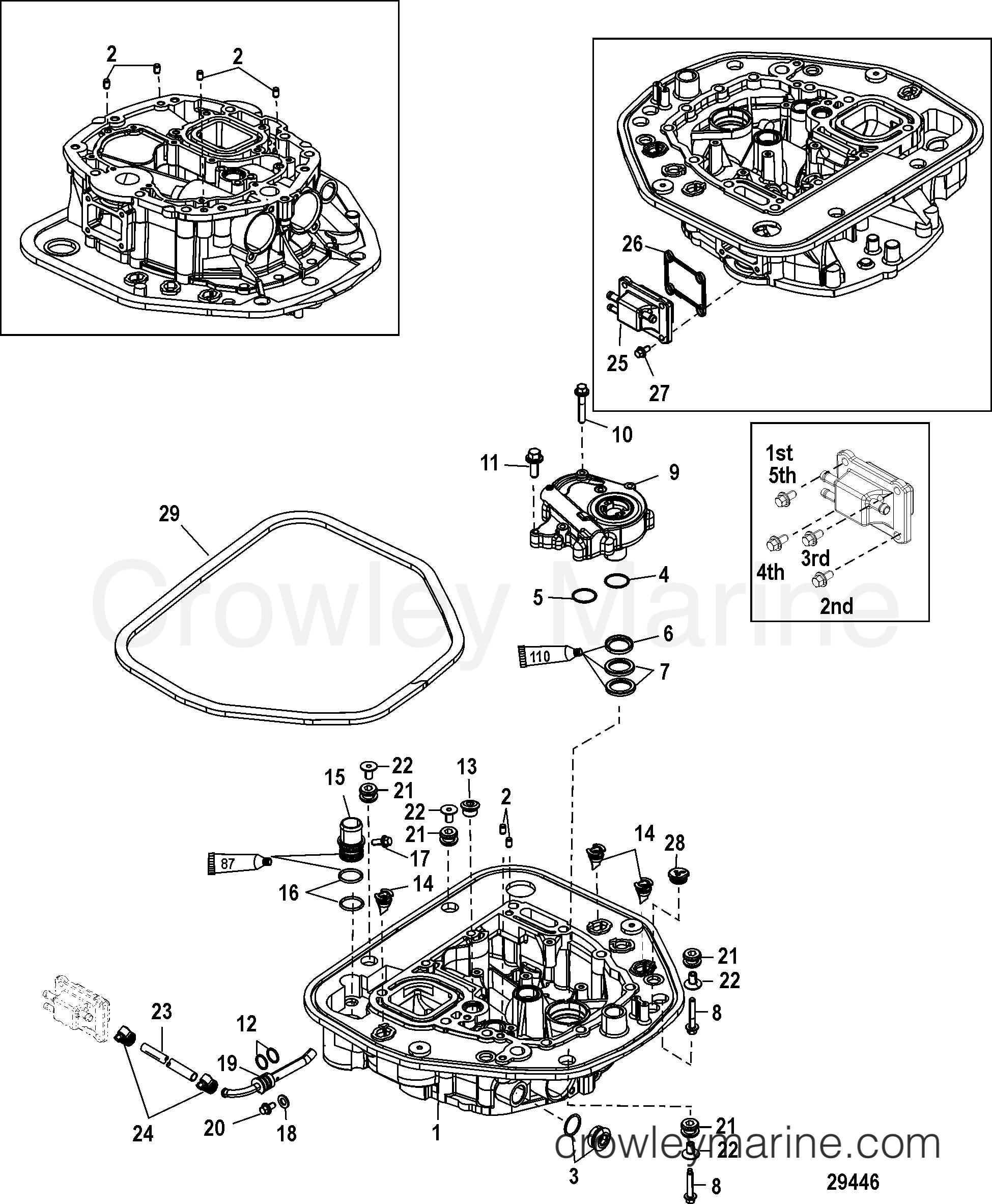 oil pump  adaptor plate-upper
