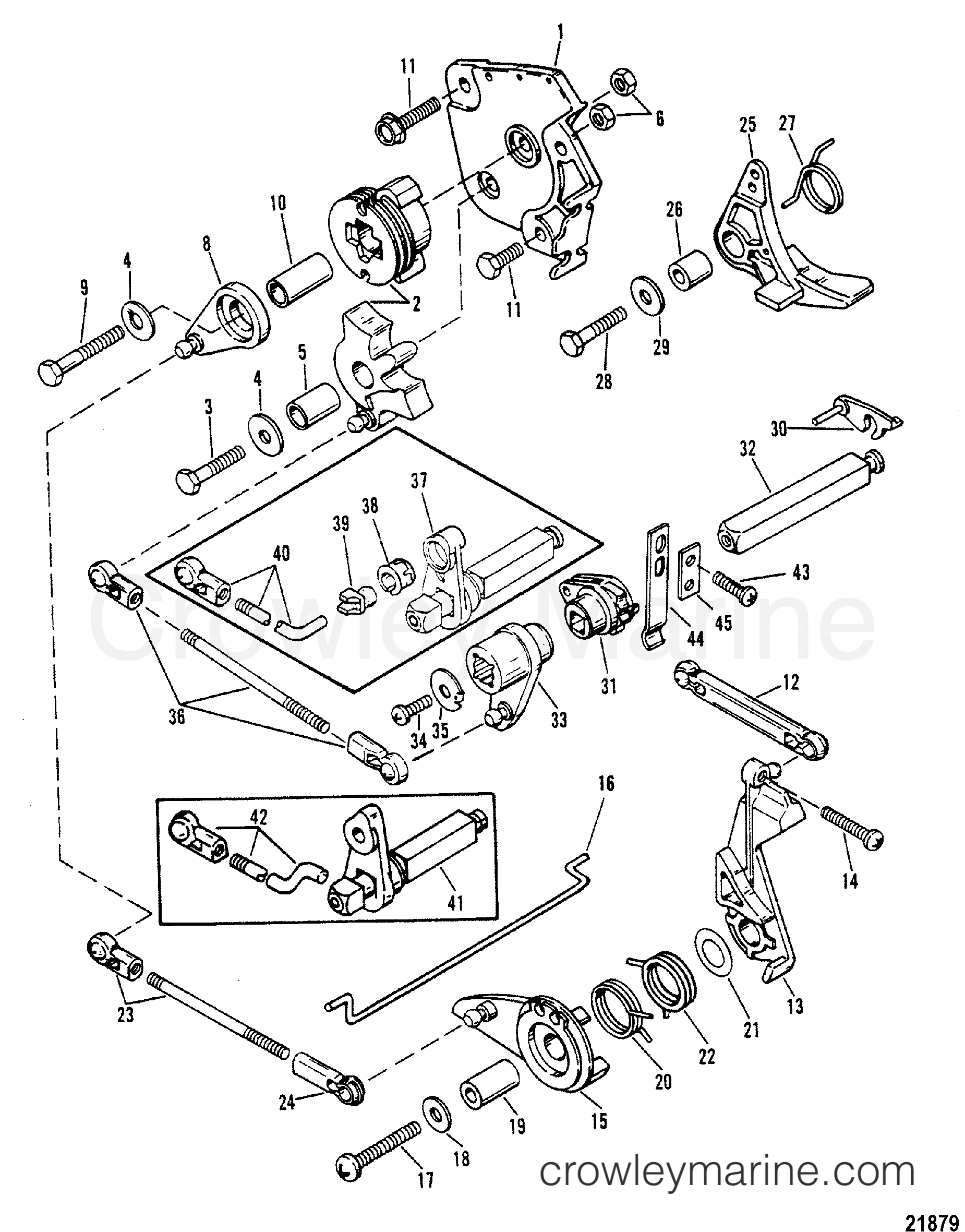 Throttle And Shift Linkage Tiller Handle Shift Models