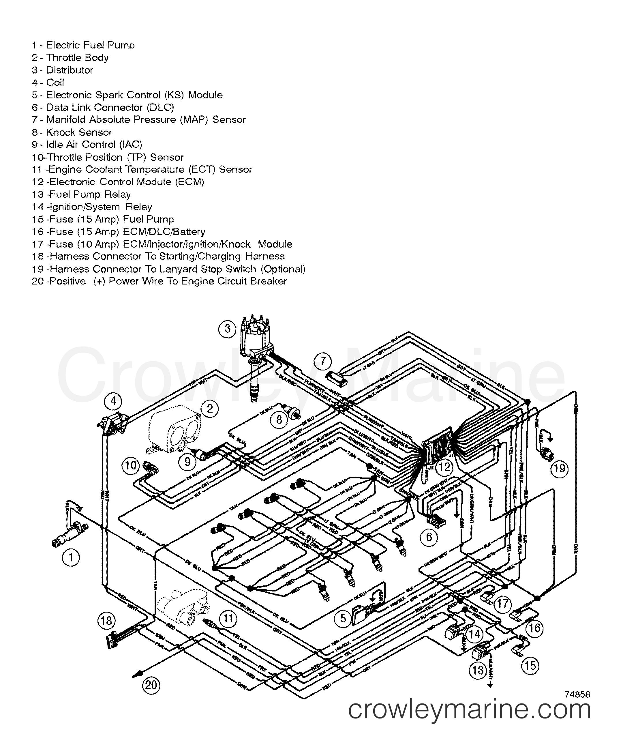 Mercury Verado 350 Wiring Diagram Manual Of Harness Efi 1996 Inboard Engine Mag Blk Rh Crowleymarine Com