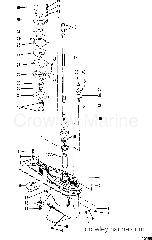 gear housing driveshaft 1988 mercury outboard 90 elpto. Black Bedroom Furniture Sets. Home Design Ideas