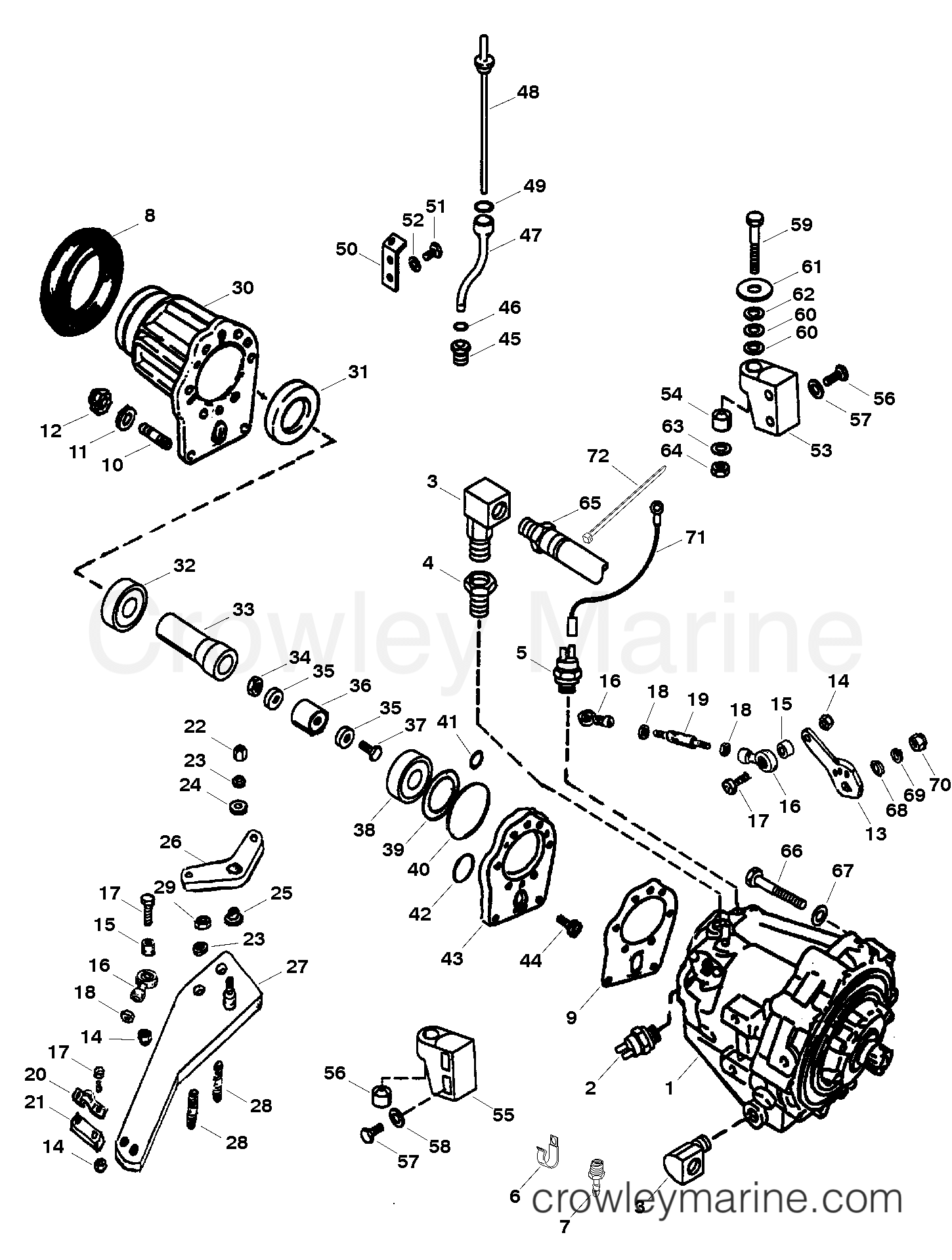 1997 Mercruiser Race Sterndrive 800SC [III/V] - 48008907H TRANSMSISSION AND COMPONENTS - VI DRIVE (BRAVO) (PG 2 0F 2) section
