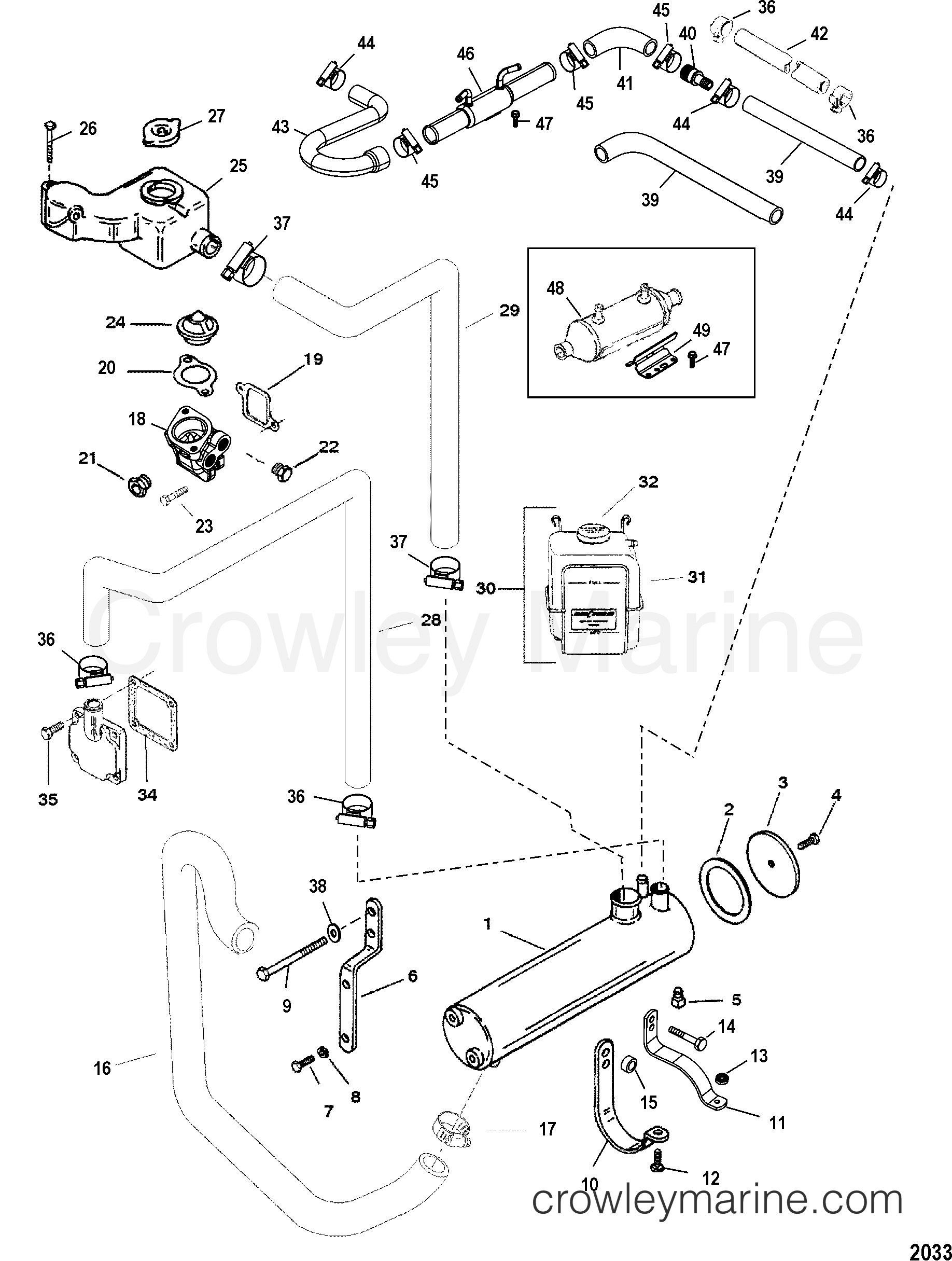 1998 mercruiser 3 0l [alpha] - 4111021l1 - closed cooling system section