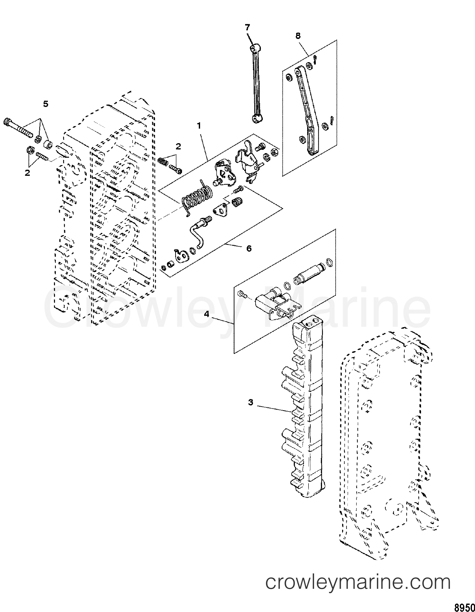 1997 Mercury Race Outboard 150 [PROMAX] - 1915313TH FUEL MANAGEMENT SYSTEM(0G366999 AND BELOW) section