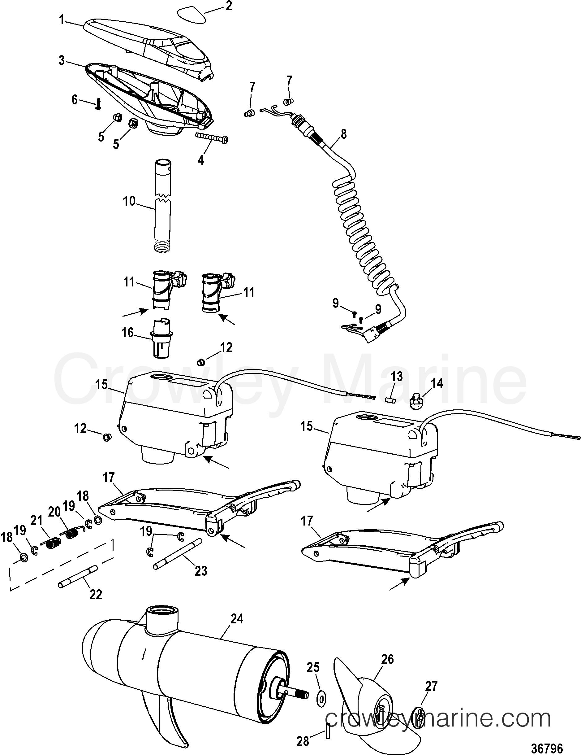2002 MotorGuide 12V [MOTORGUIDE] - 9MP4301Z1 - COMPLETE TROLLING MOTOR( WIRELESS MODELS)