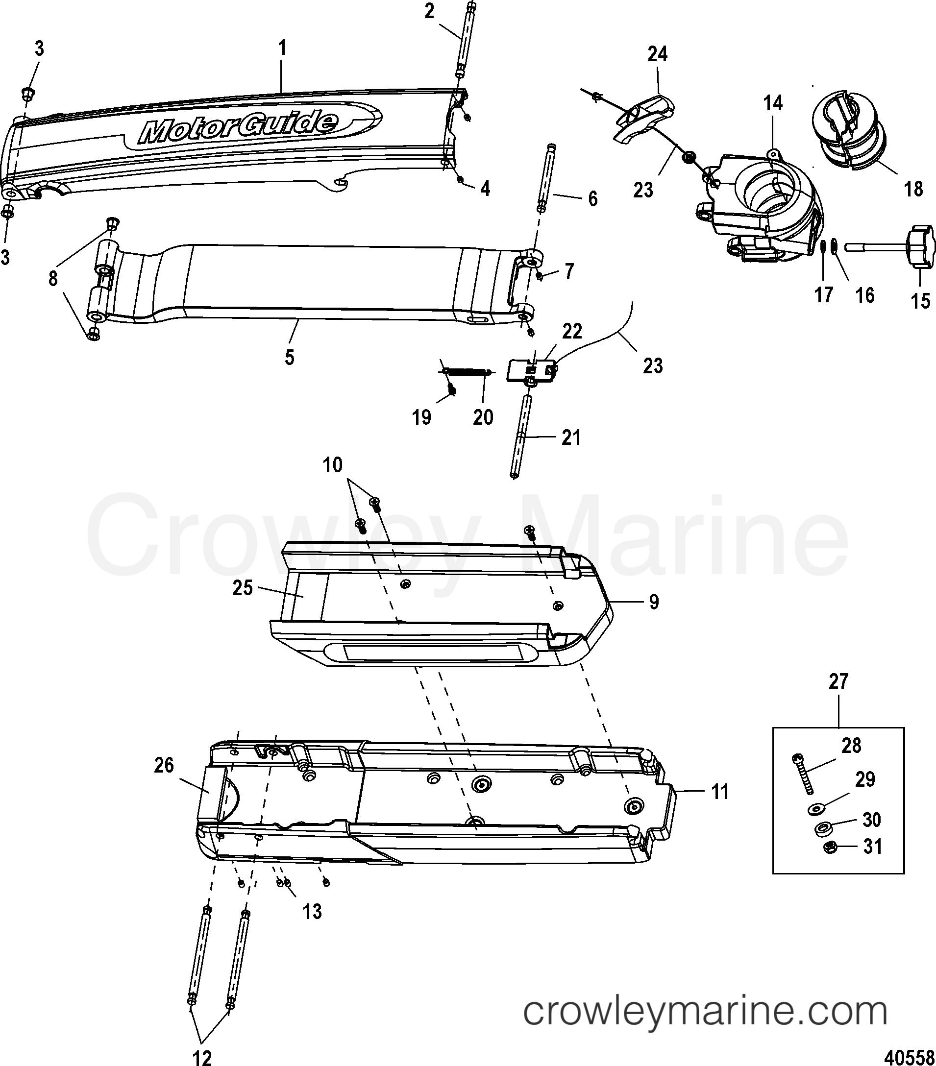 2005 MotorGuide 12V [MOTORGUIDE] - 921310040 GATOR 360 FLEX II MOUNT (BLACK) (DESIGN II)(8M4501607) section