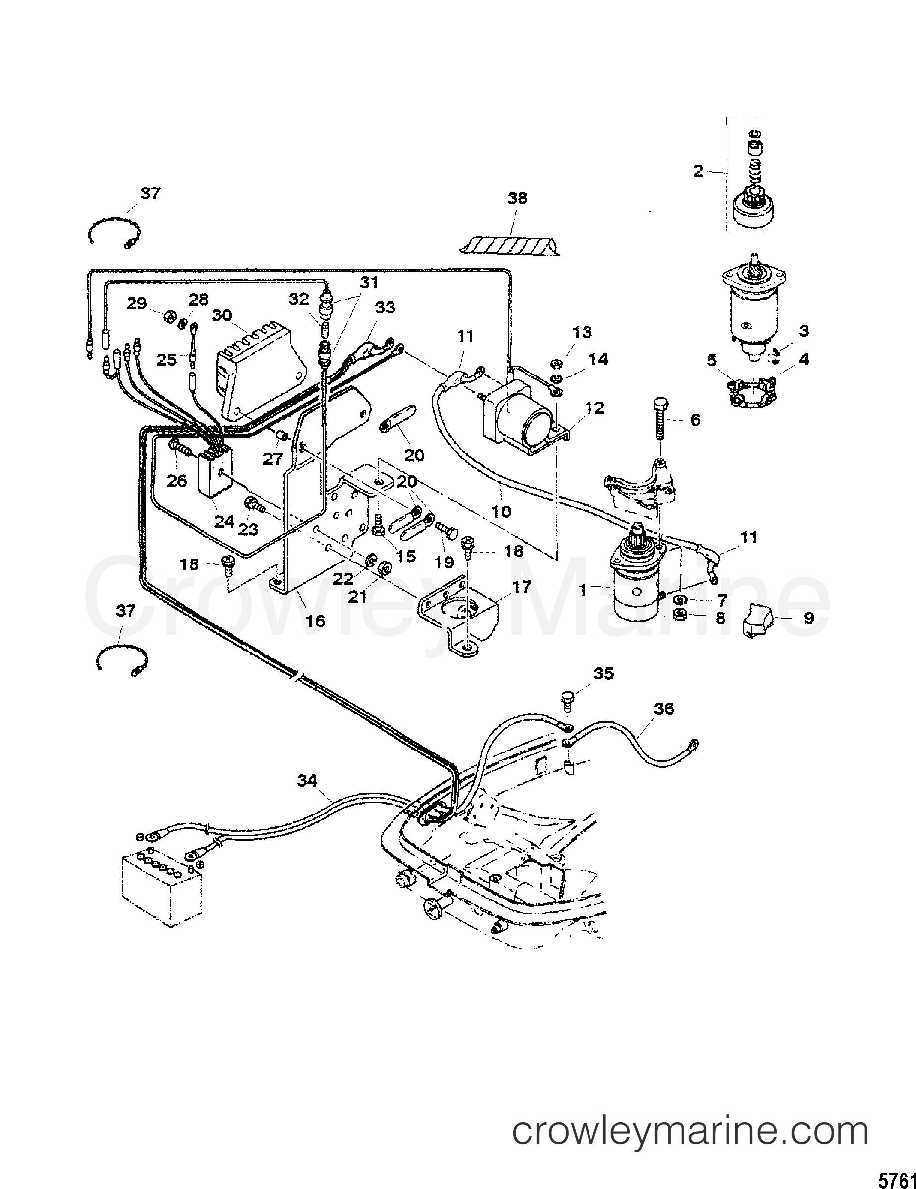 electric starter components