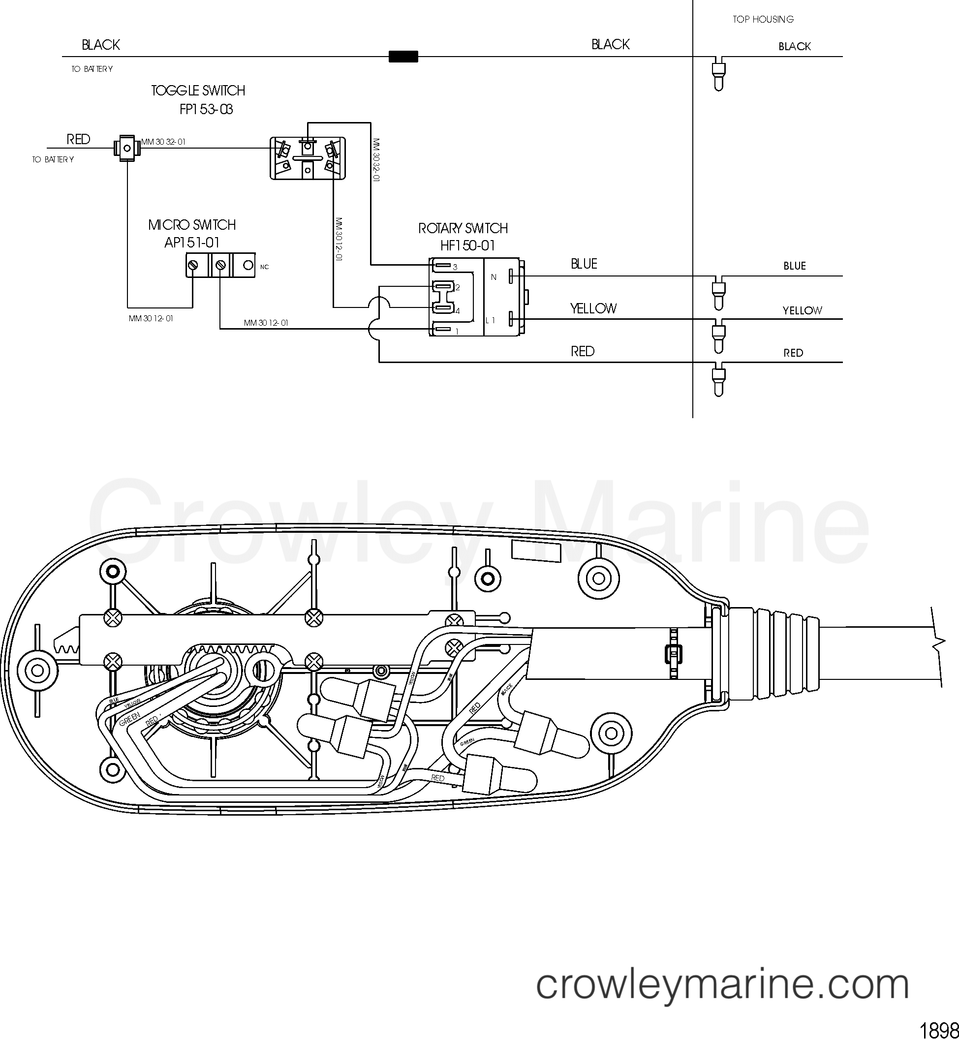 Motorguide Wiring Diagrams Diagram Pictures Minn Kota 5 Speed Switch Wire Model Pro 70 24 Volt 2002 12v Rh Crowleymarine Com Parts