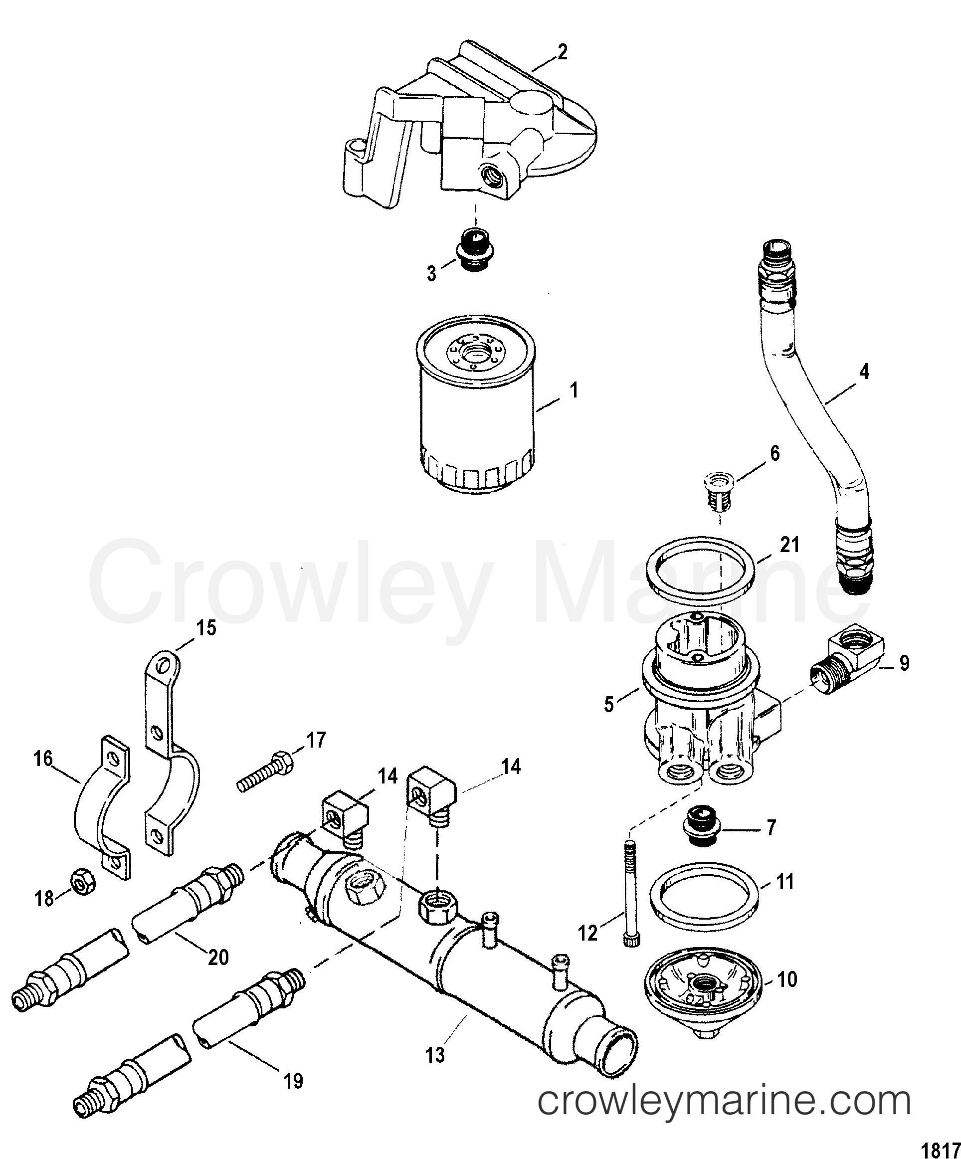 Oil Filter And Adapter 1988 Mercruiser 7 4l Bravo