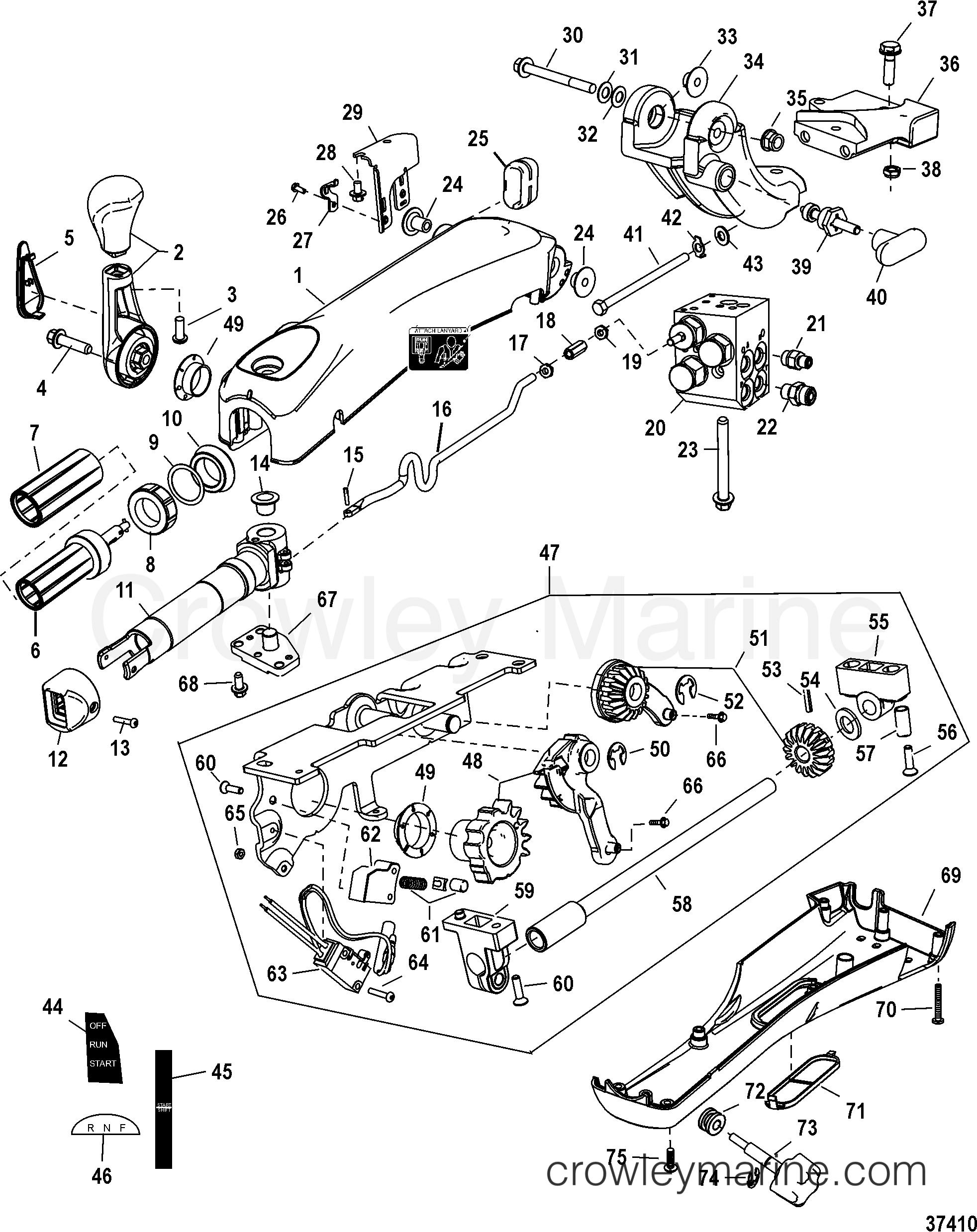 tiller handle kit big tiller-power steer  mechanical