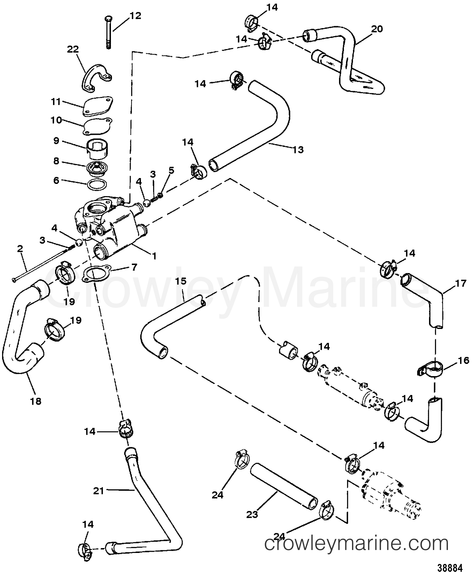 7 4 Mercruiser Cooling Diagram Schematic Diagrams Engine Wiring Thermostat Trusted U2022 57 Liter Chevy