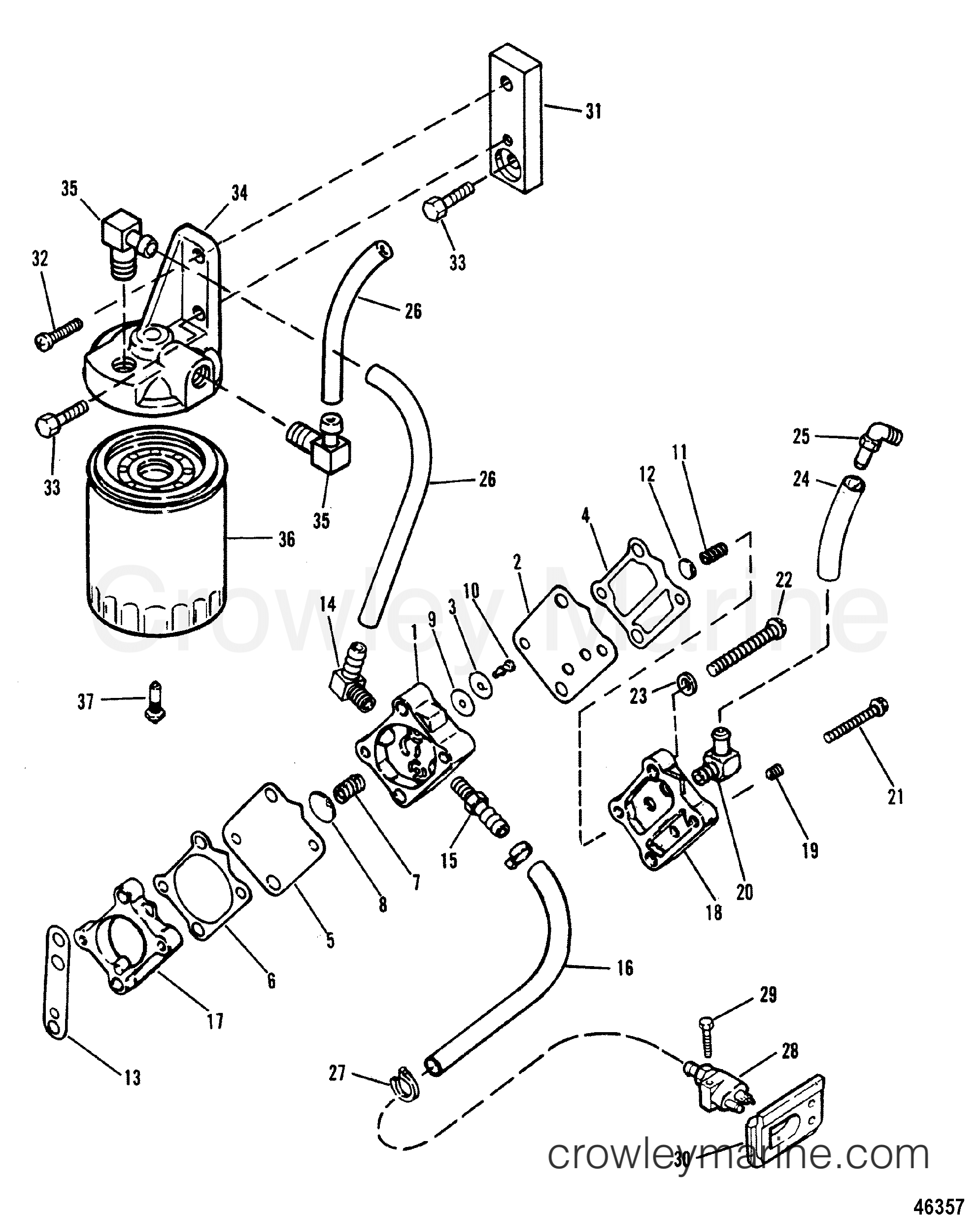 fuel pump and fuel filter