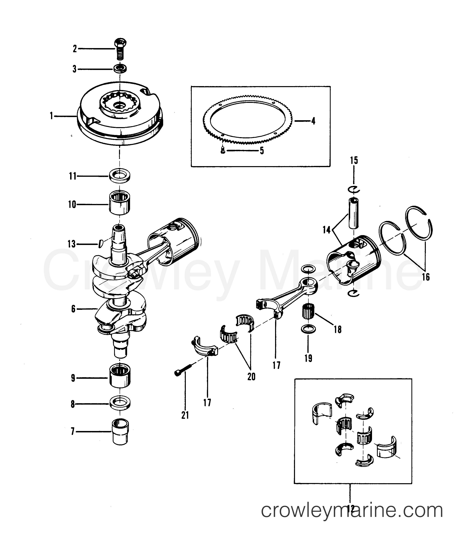 Crankshaft  Pistons And Flywheel