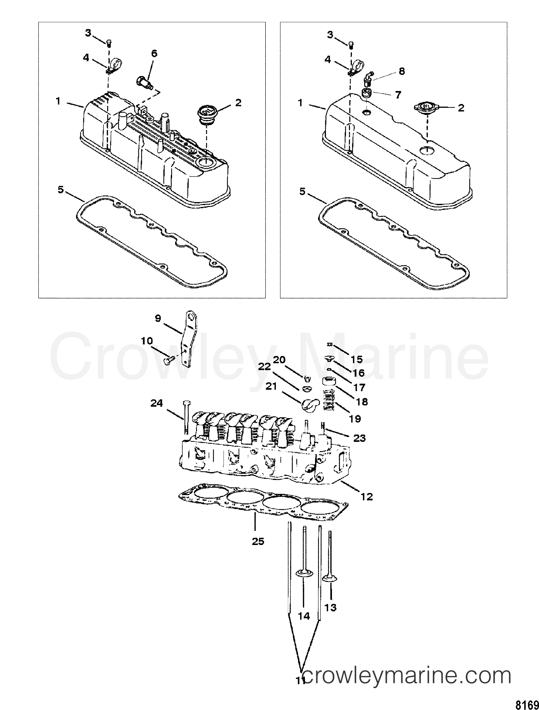 Mercruiser 30 Lx Engine Diagram Trusted Schematics Cylinder Head And Rocker Cover 1996 3 0lx Alpha Parts