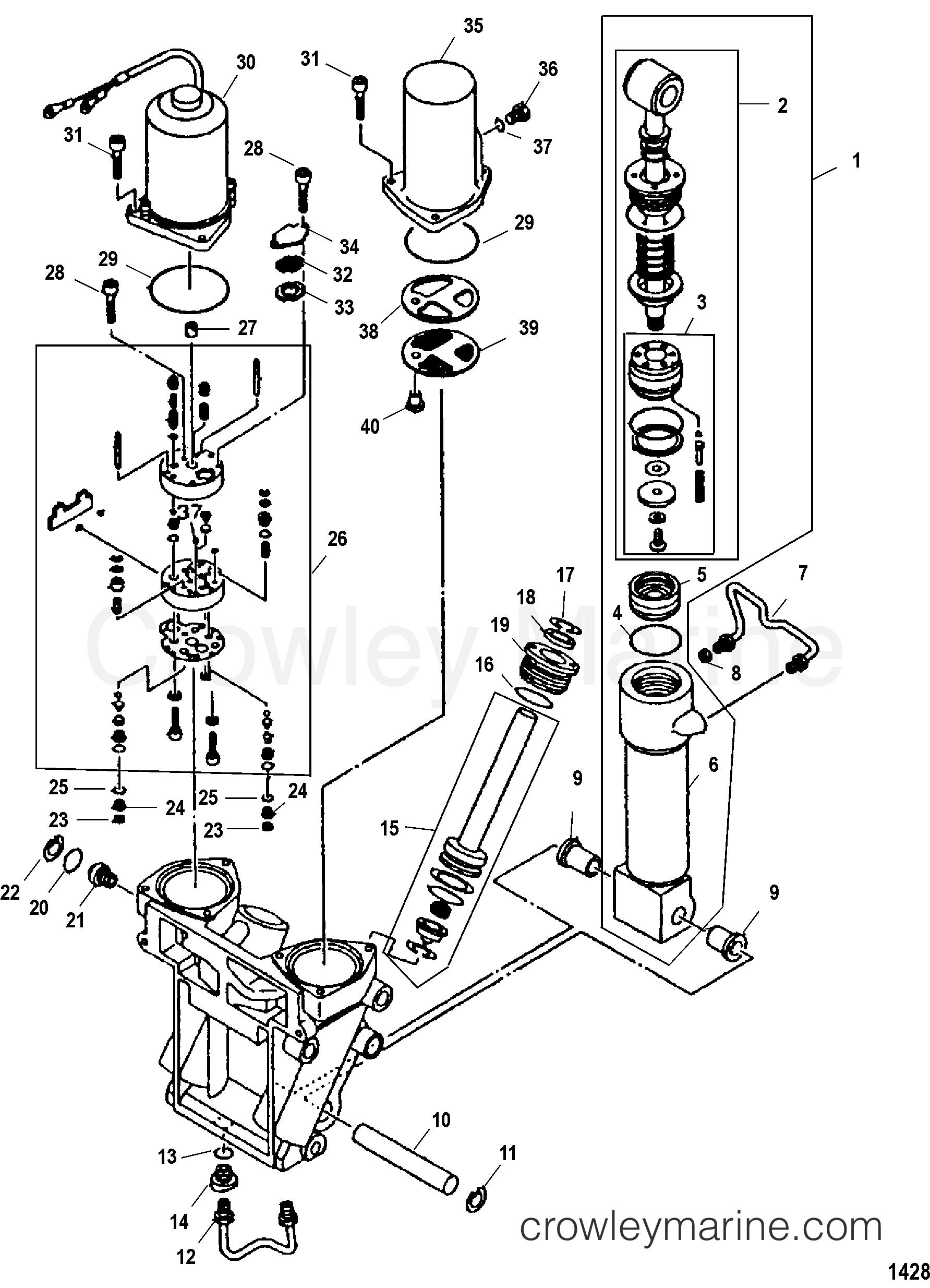 POWER TRIM COMPONENTS - 2003 Mercury Outboard 225EFI [CXL 4