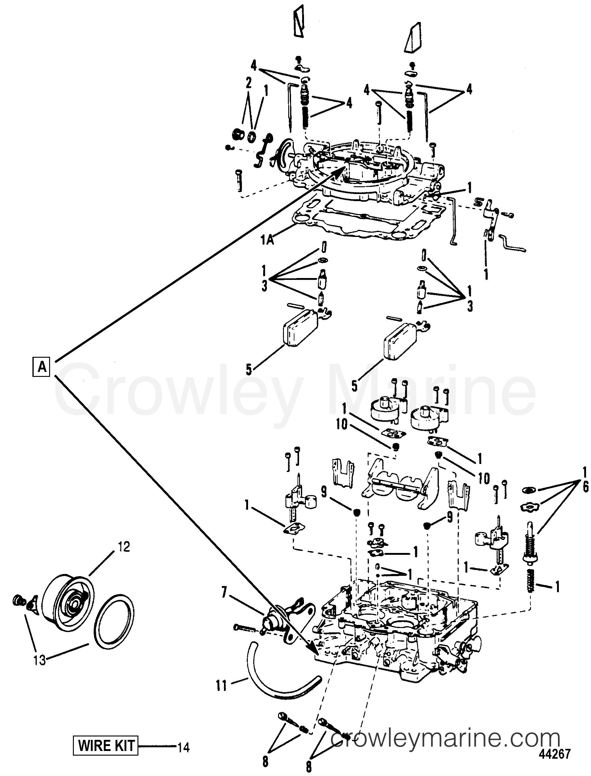 1993 Mercury Inboard Engine 7.4L [CARB] - 3743299FS CARBURETOR(WEBER) section