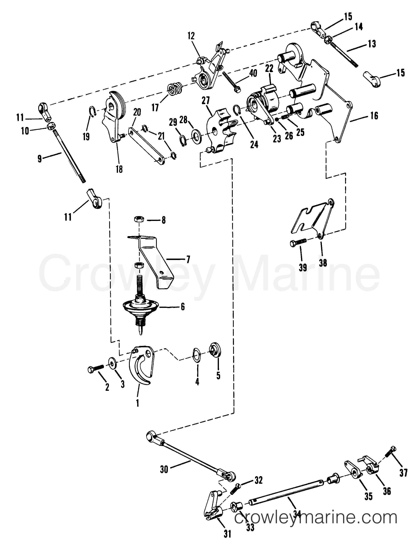 throttle and shift linkage manual serial range mercury outboard rh crowleymarine com