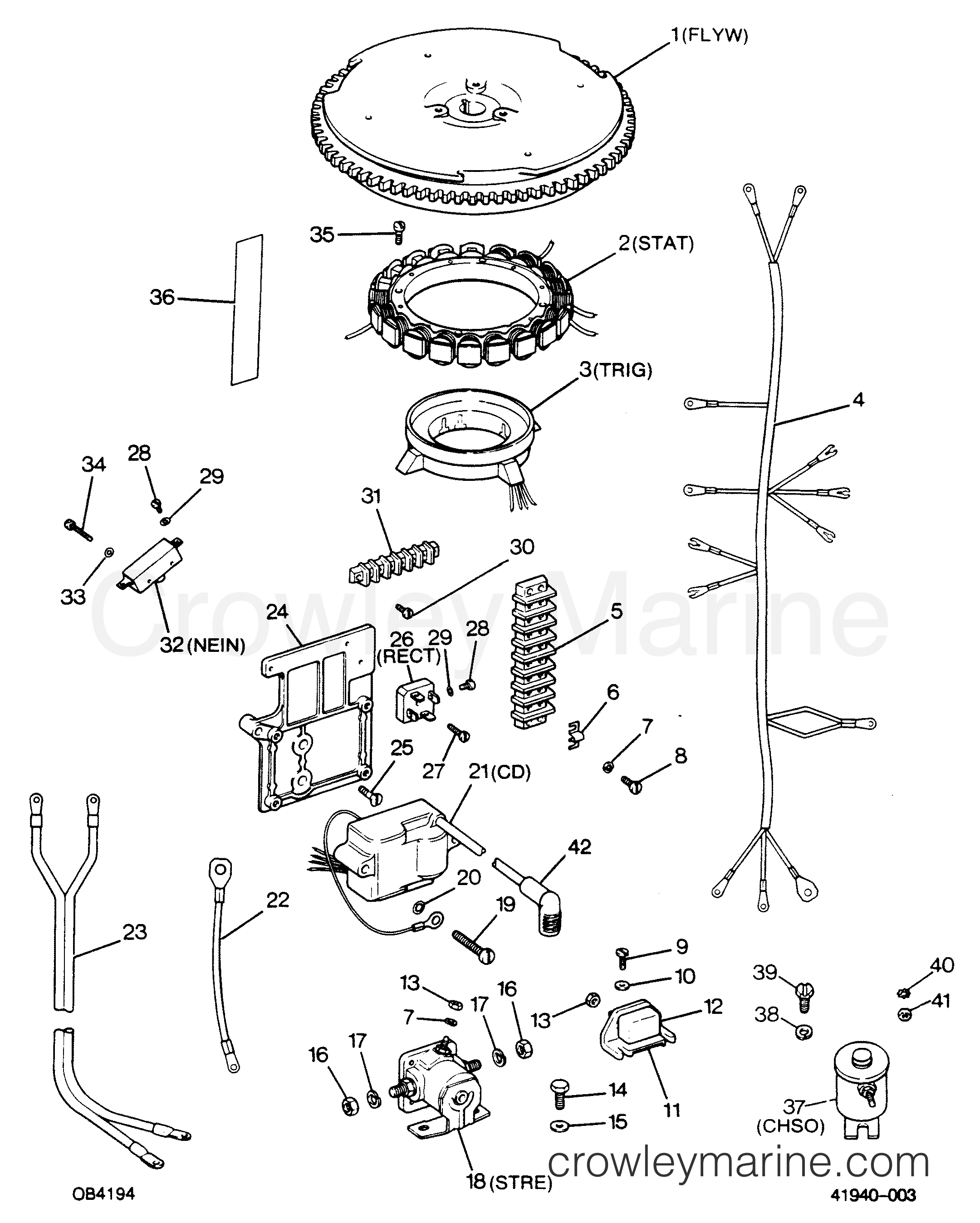 alternator and electrical components