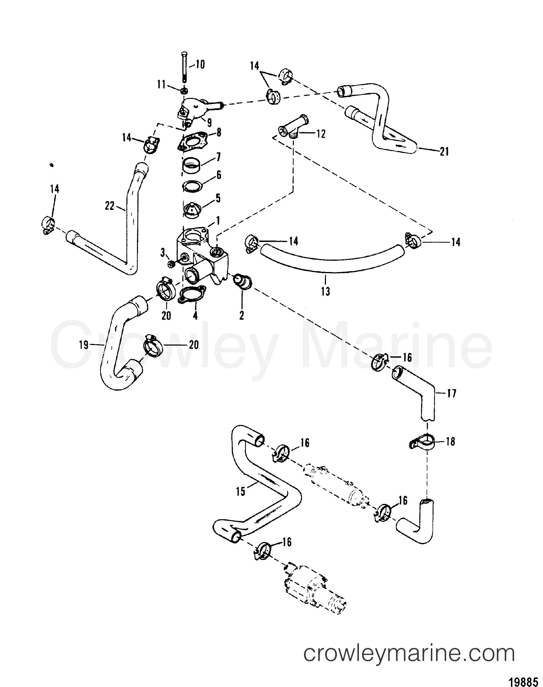 Mercruiser 50 Engine Diagram Thermostat Reveolution Of Wiring Boat 454 Housing Standard Cooling Design I 1988 Mercury Rh Crowleymarine Com Diagrams