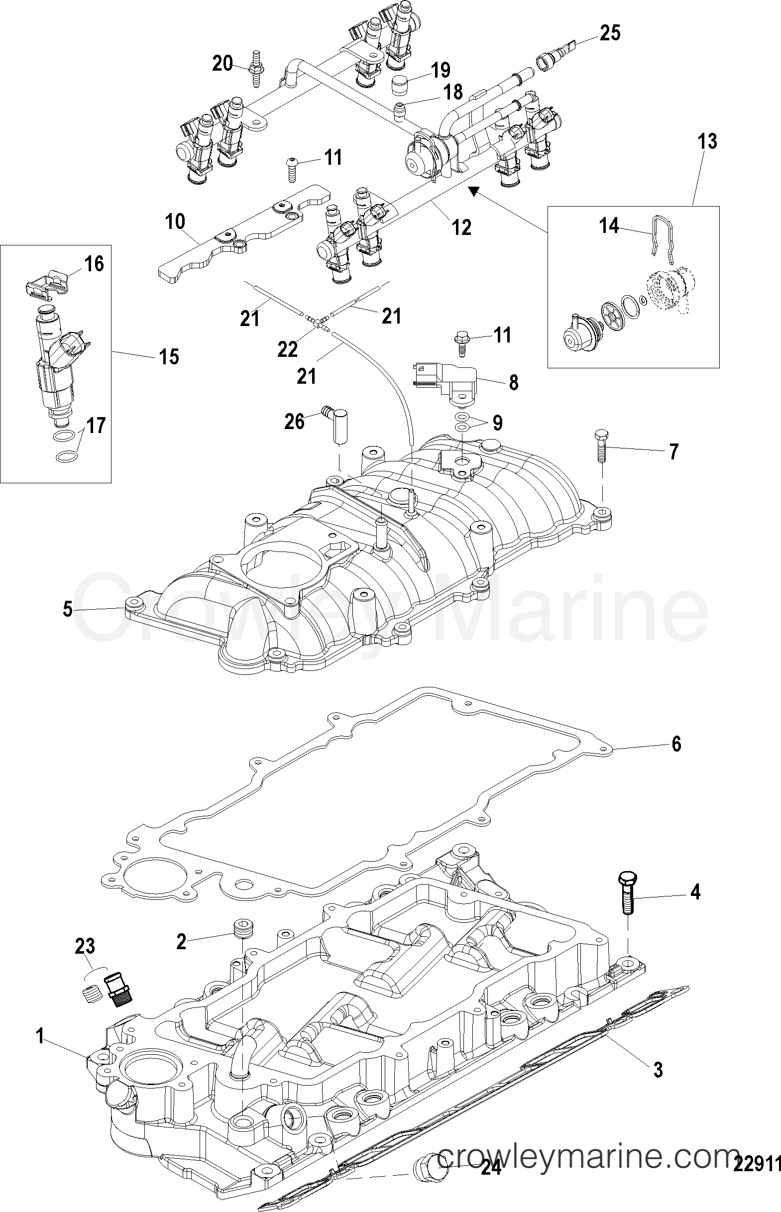 Mercruiser 885165 TMAP Temperature Manifold Air Pressure MAP Sensor 885165