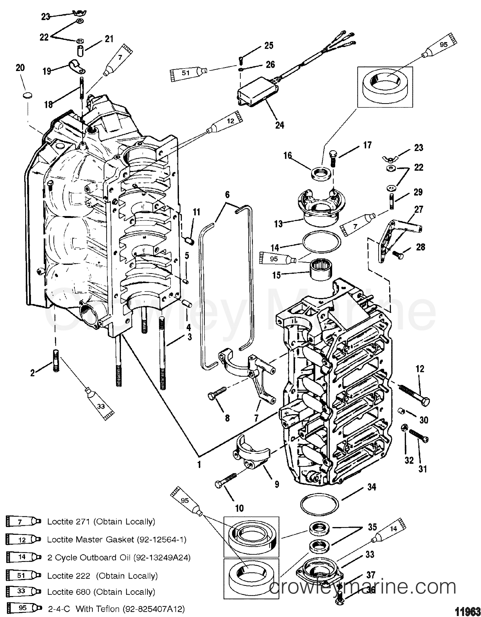 mercury 150 efi wiring diagram cylinder block and end caps - 1996 mercury outboard 150 ... mercury 150 xr6 wiring diagram #3