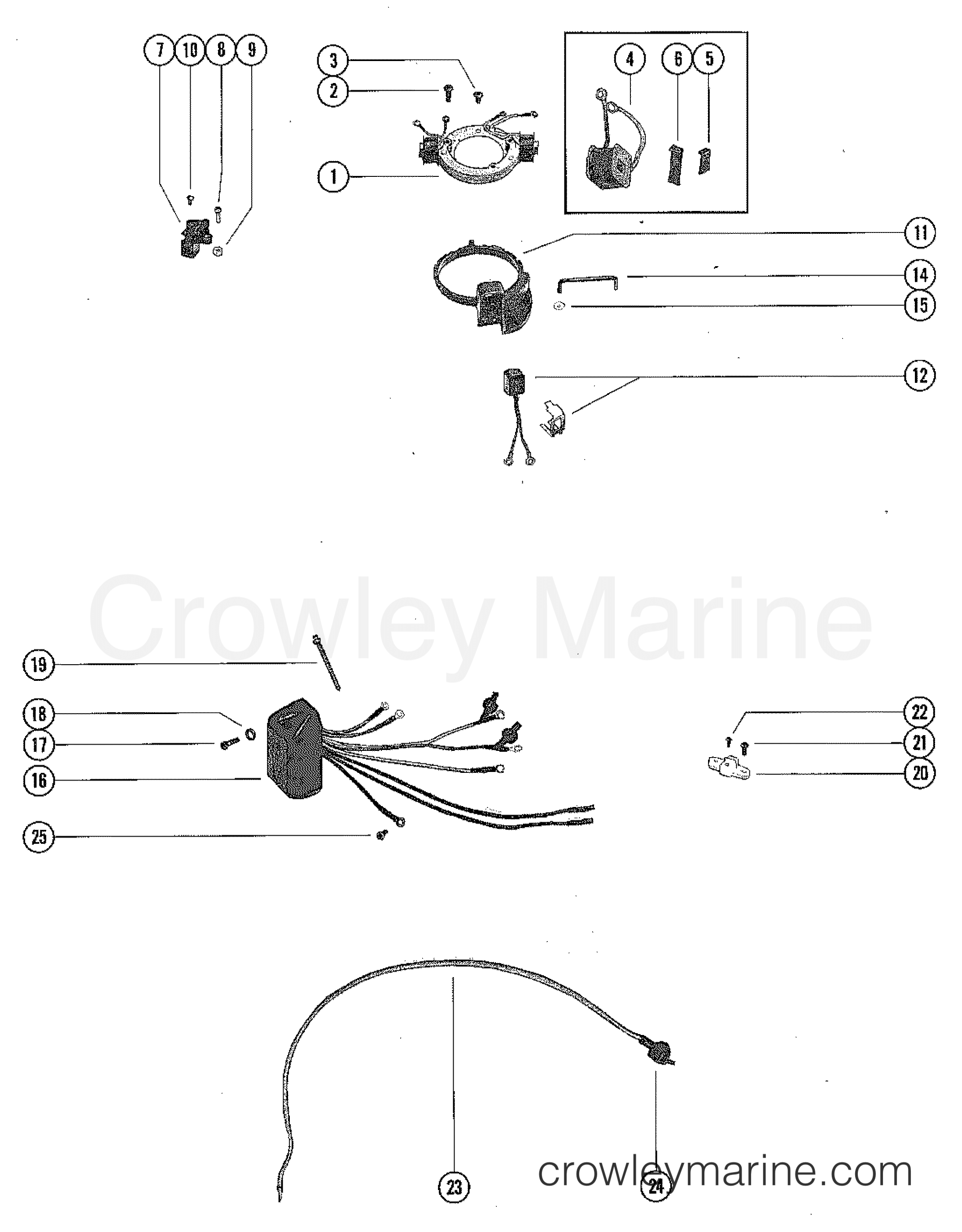 ignition components 1975 mercury outboard 7 5 1075205. Black Bedroom Furniture Sets. Home Design Ideas