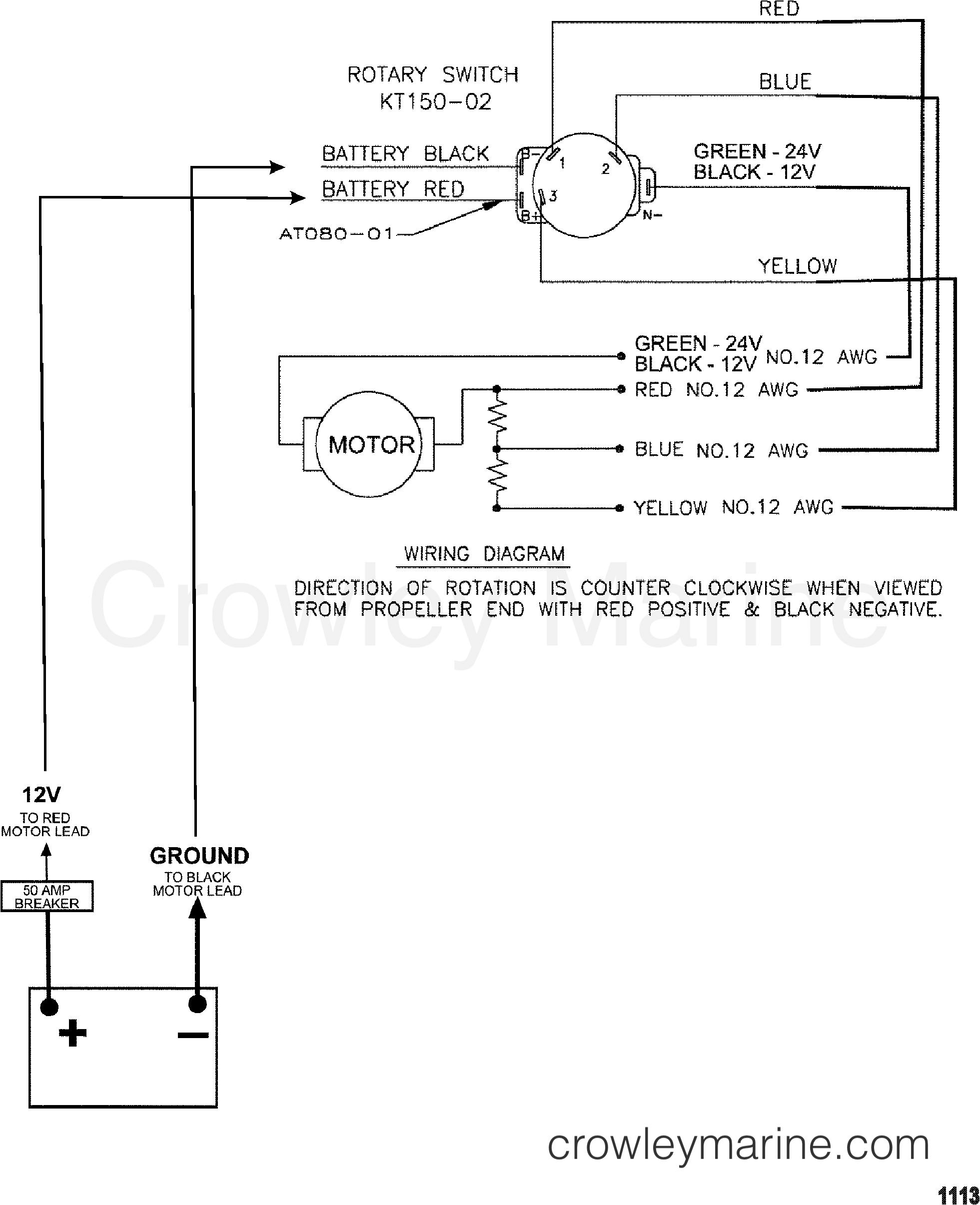 2000 MotorGuide 12V [MOTORGUIDE] - 9EF54BJW1 - WIRE DIAGRAM(MODEL ET30) (12 VOLT) section