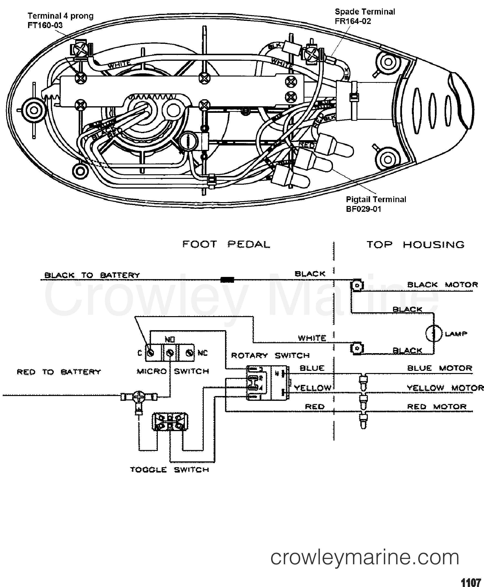 2000 MotorGuide 36V [MOTORGUIDE] - 9EF107KWU WIRE DIAGRAM(MODEL EF54P) (12 VOLT) section