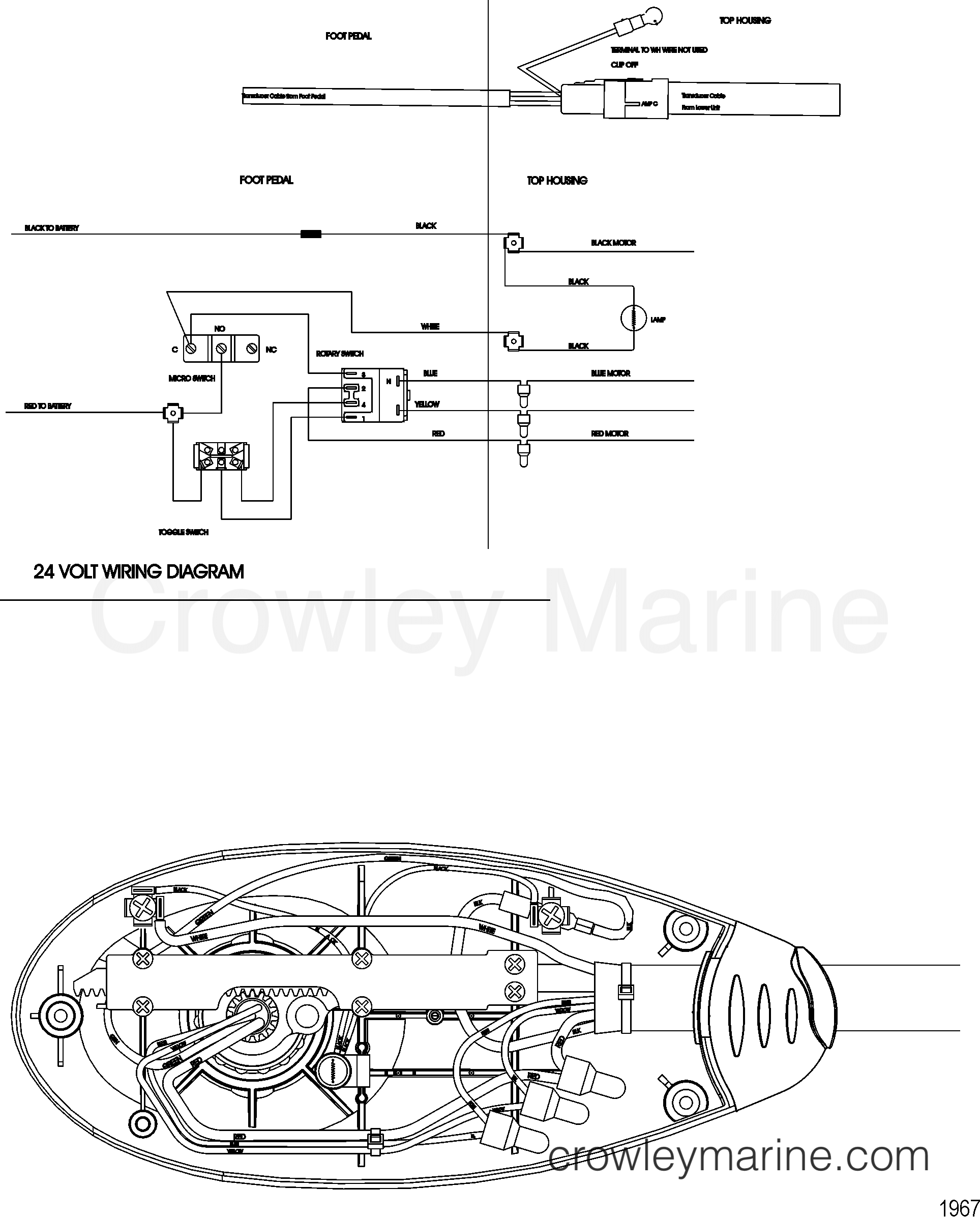 2010 MotorGuide 24V [MOTORGUIDE] - 921310440 WIRE DIAGRAM(MODEL FW71PFB) section