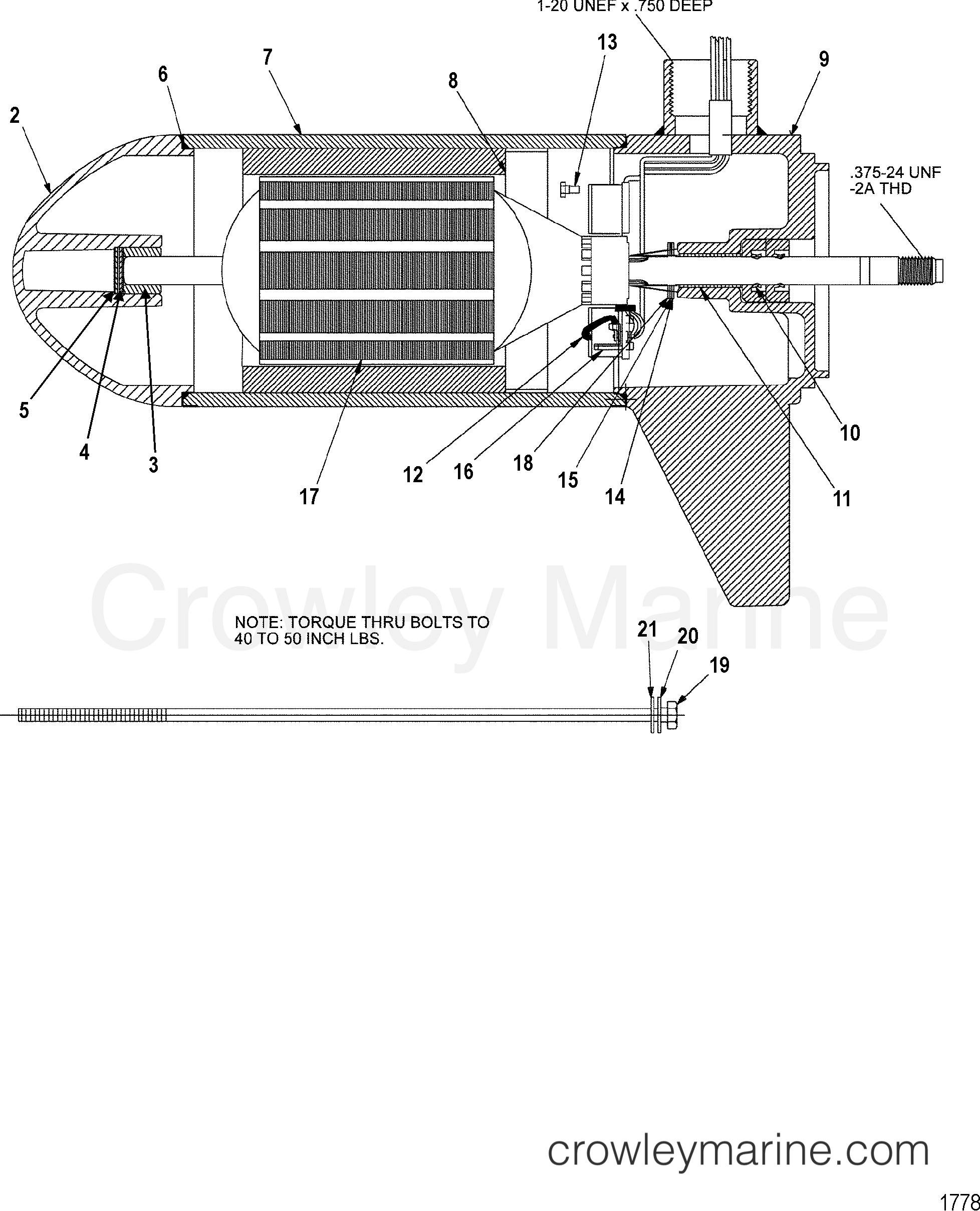 2002 MotorGuide 12V [MOTORGUIDE] - 9EF37B7ZJ LOWER UNIT ASSEMBLY(35# - 5 SPEED) (MSM397052) section
