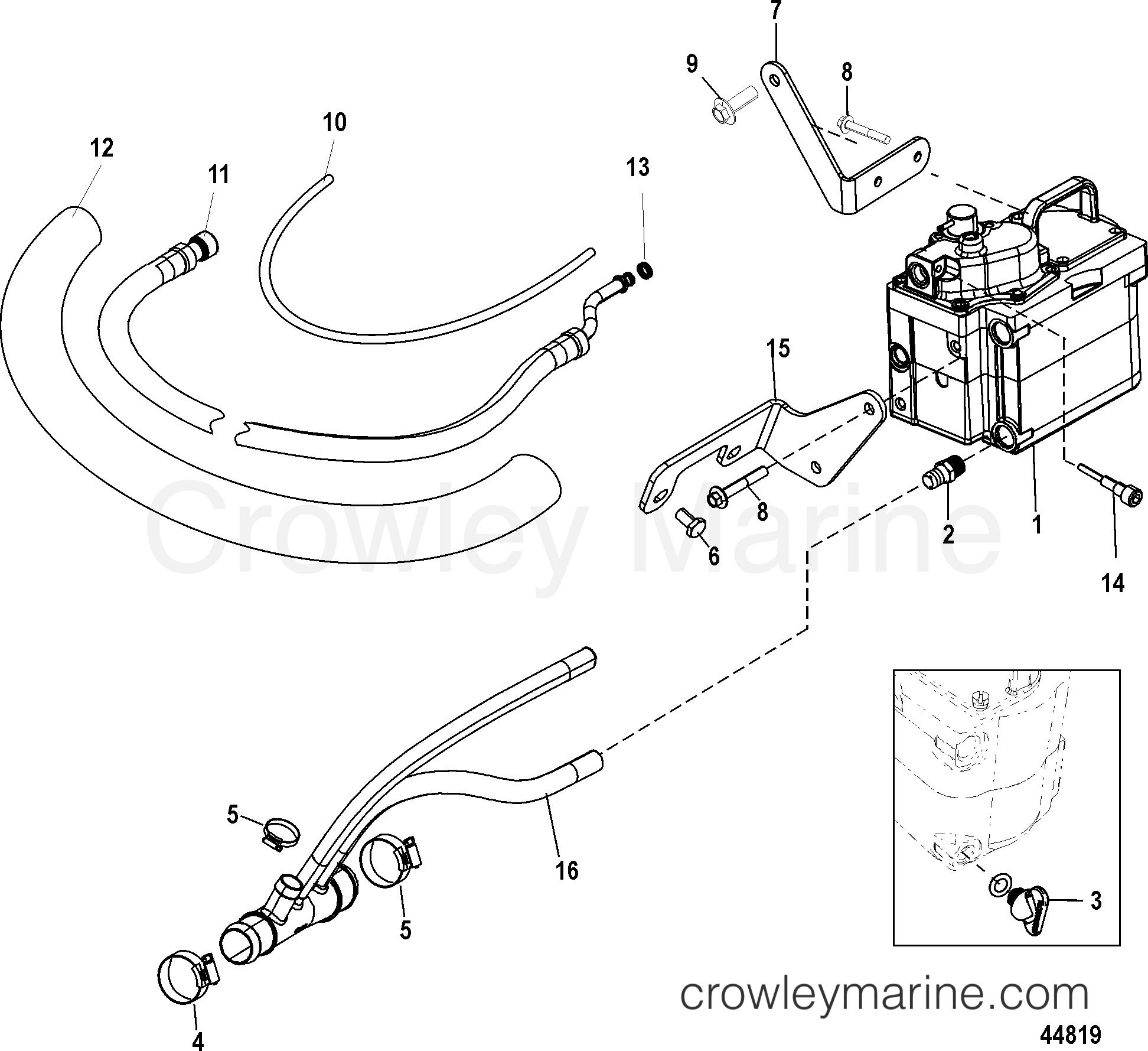 COOL FUEL SYSTEM, BRAVO - 1998 Mercury Inboard Engine 350